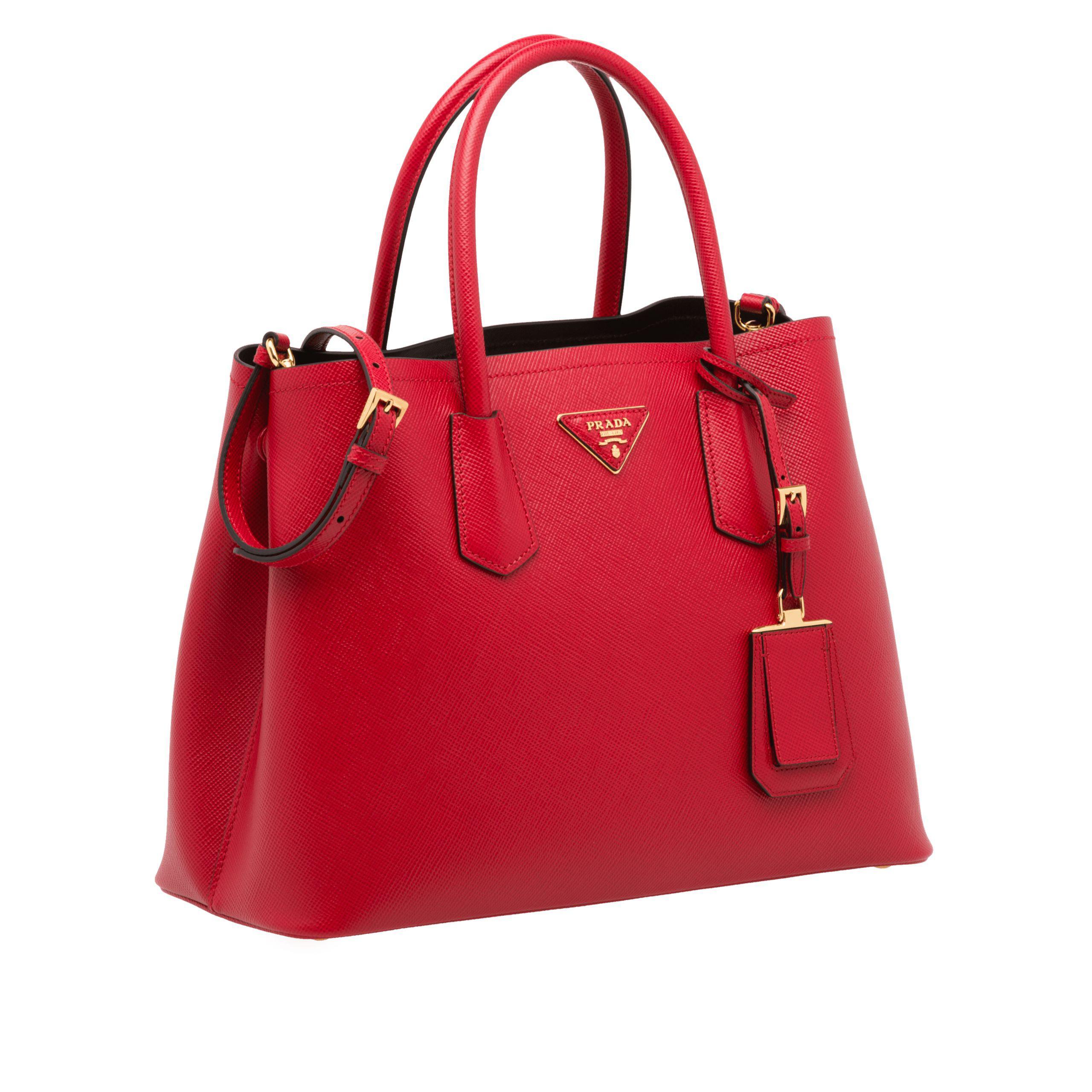 store prada red double bag lyst. view fullscreen 0578a d11c9 9122aa72bc72d