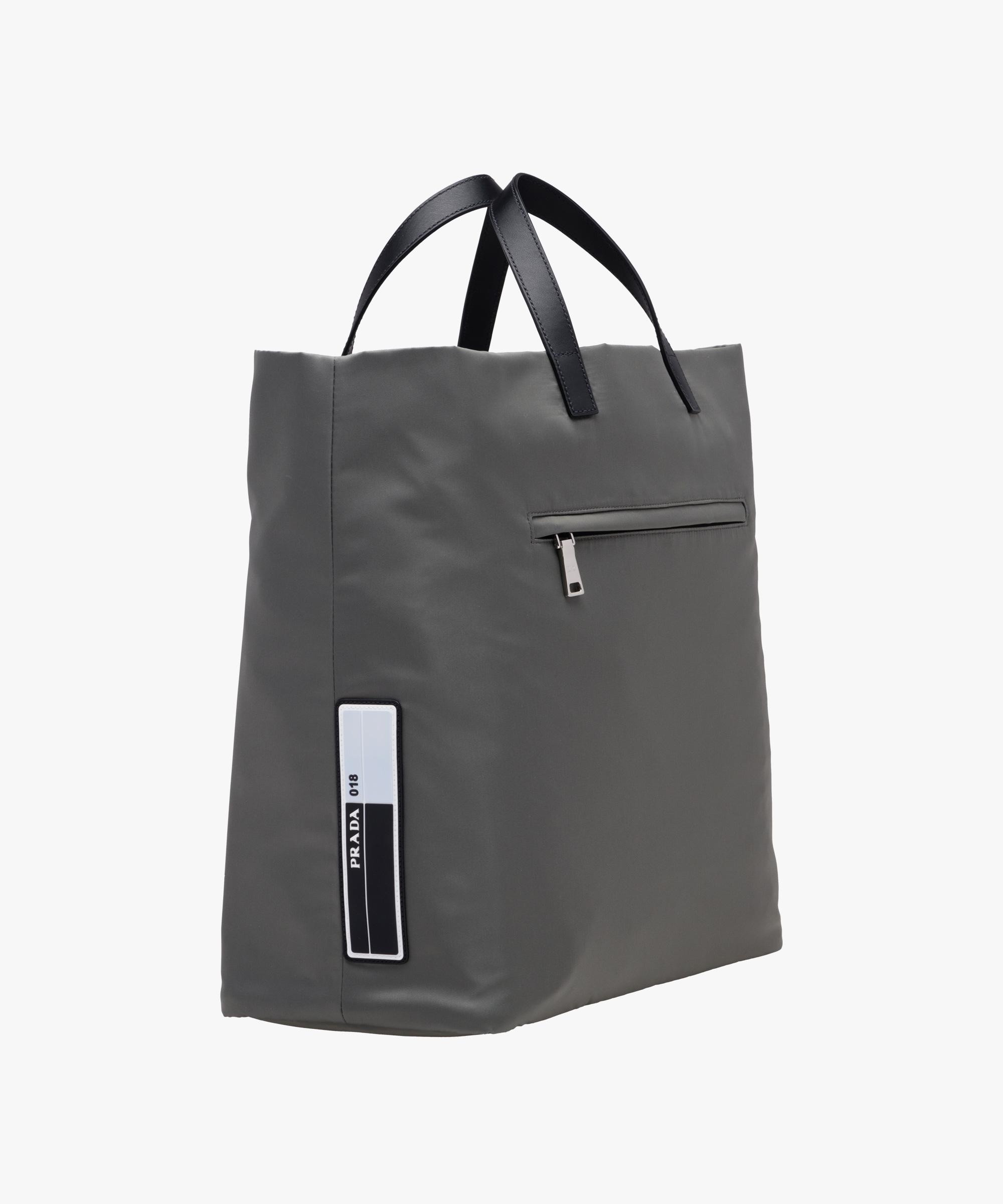 c8d62b7c17ca ... clearance lyst prada technical fabric tote in gray for men 331c7 602f5