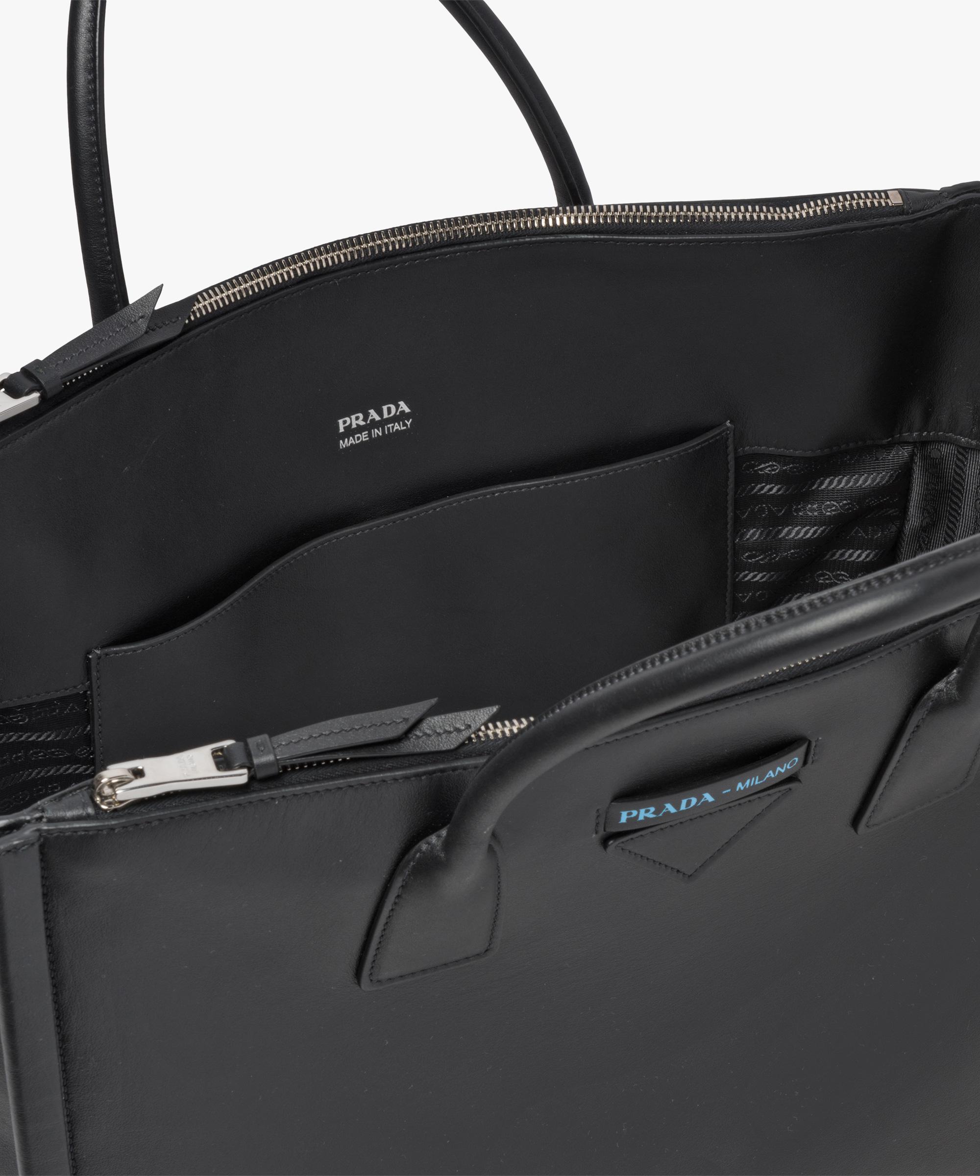 fbc98f2db5a871 Prada Concept Calf Leather Bag in Black - Lyst