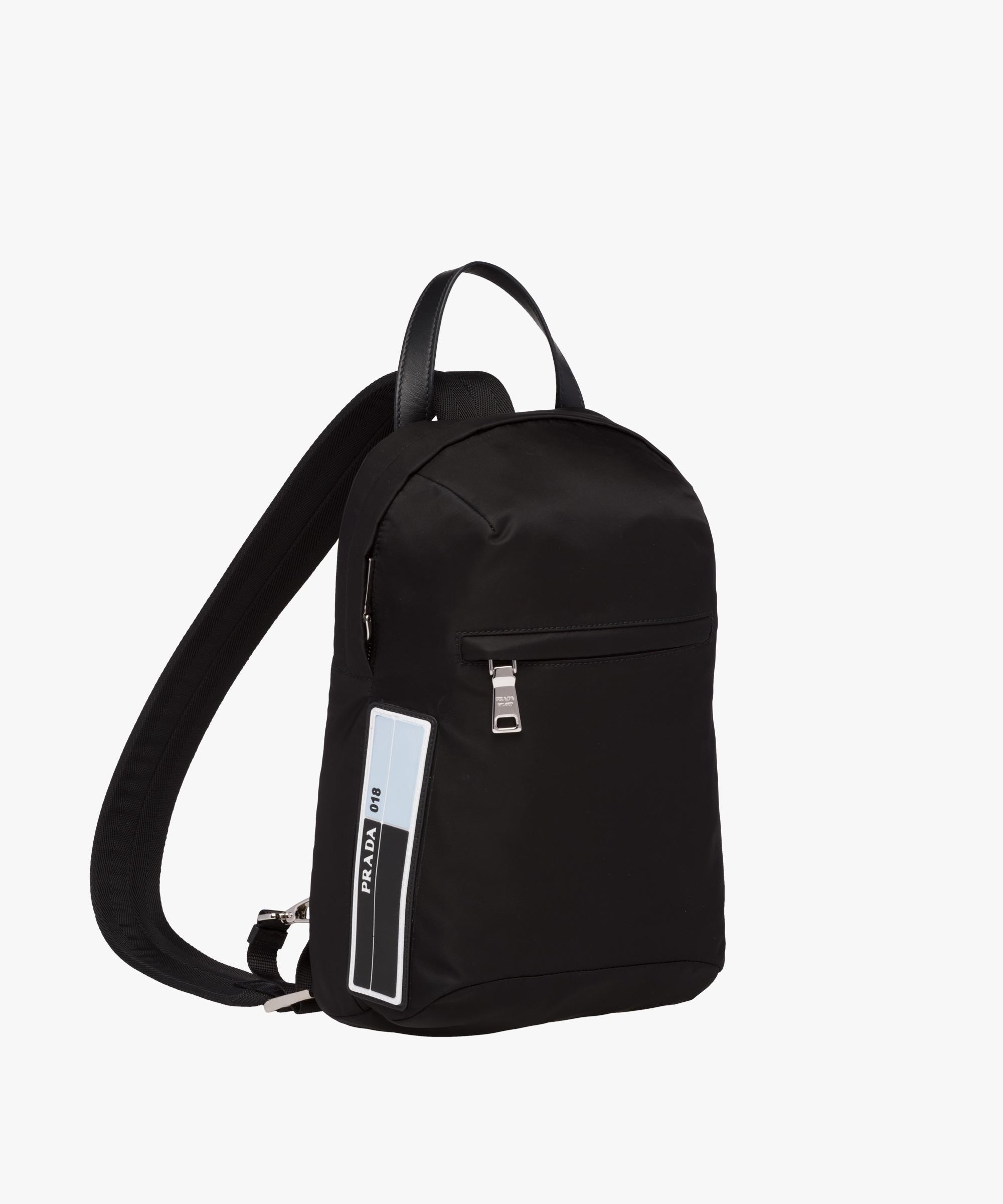 d99944ded798 Lyst - Prada Nylon One-shoulder Backpack in Black for Men