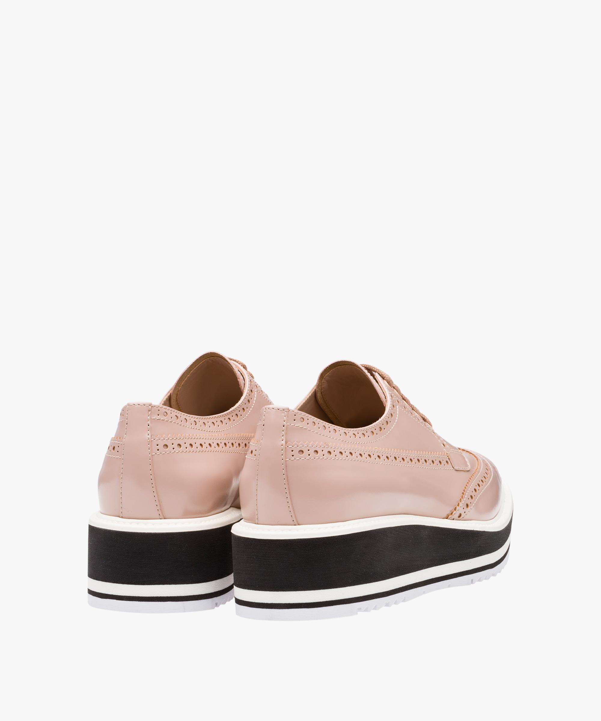 8705870d1f17 Lyst - Prada Leather Platform Derby Shoes in Pink