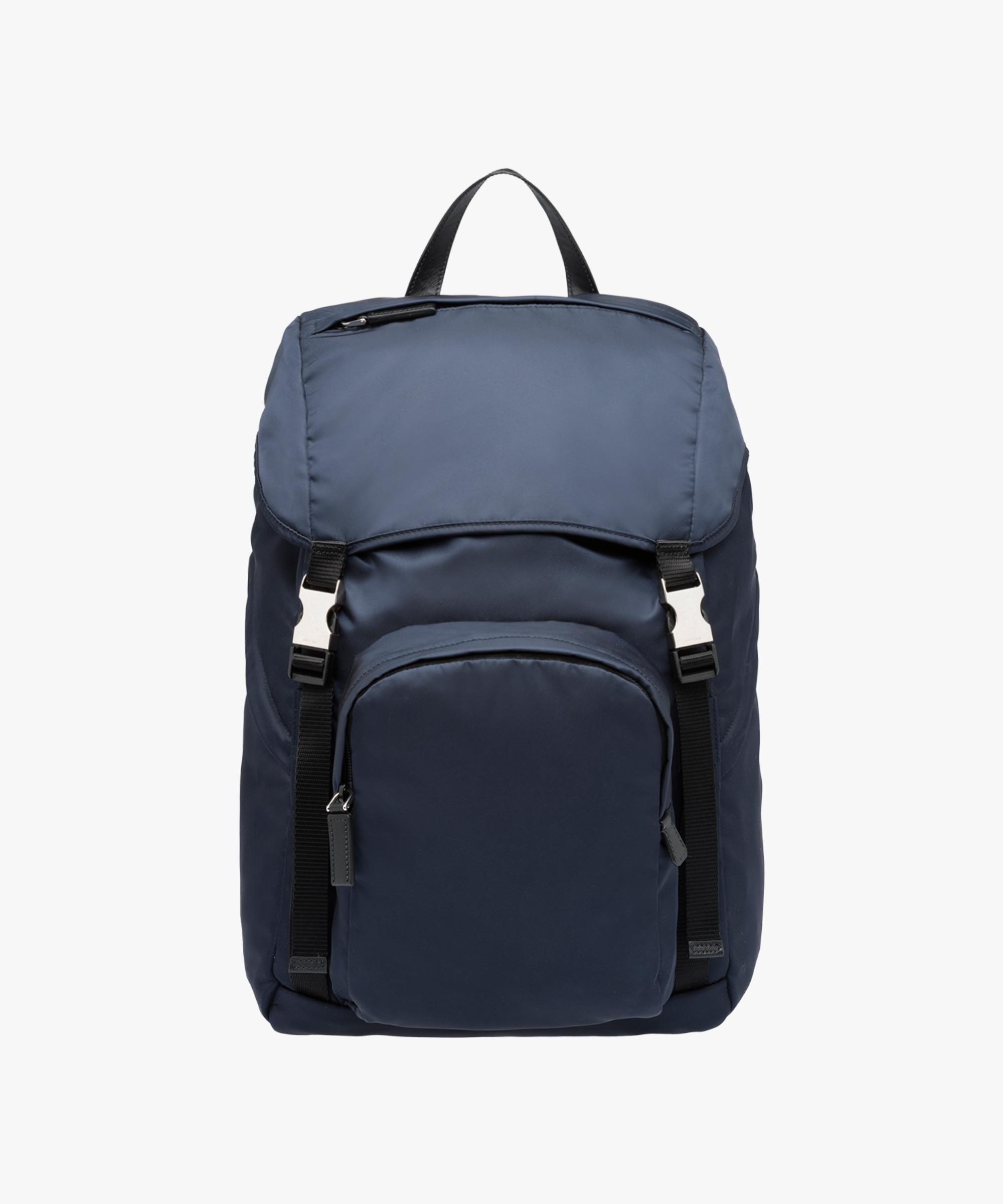 ec2636e14da5 ... closeout lyst prada backpack in blue for men bce1a ae3d2