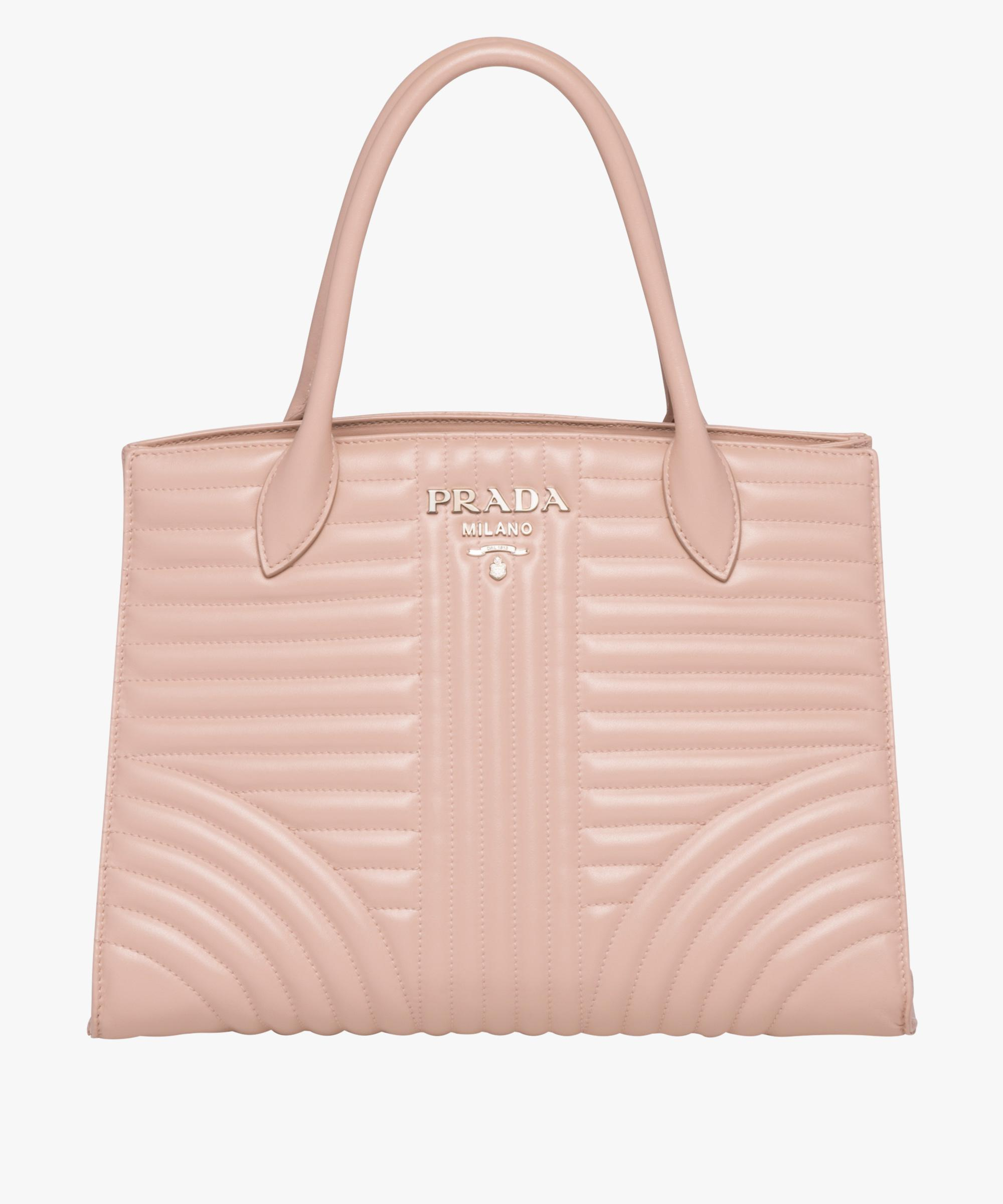 69978ddc7e2c Lyst - Prada Diagramme Leather Handbag in Pink