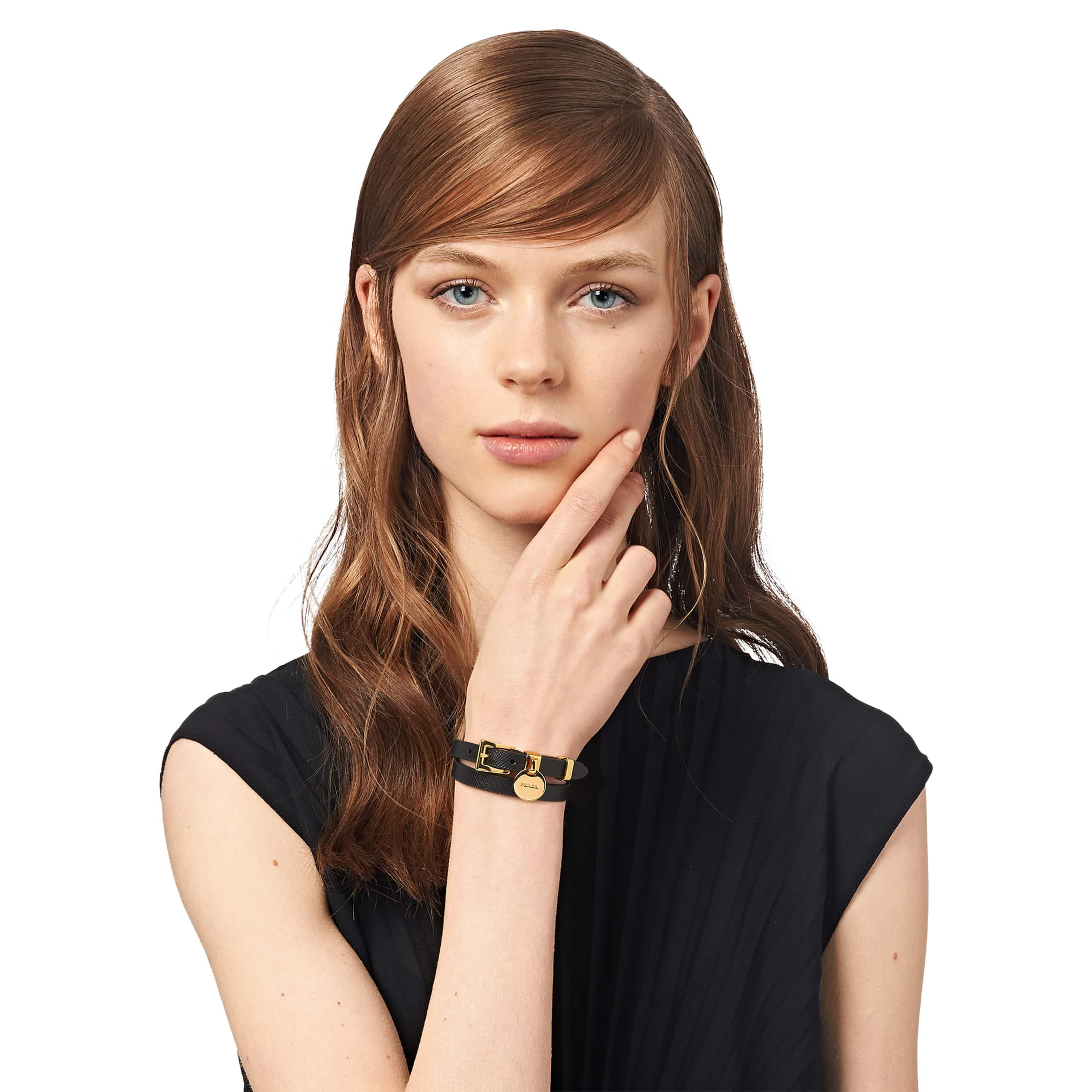 cdeb48c0bb Prada My Character Saffiano Bracelet - Lyst