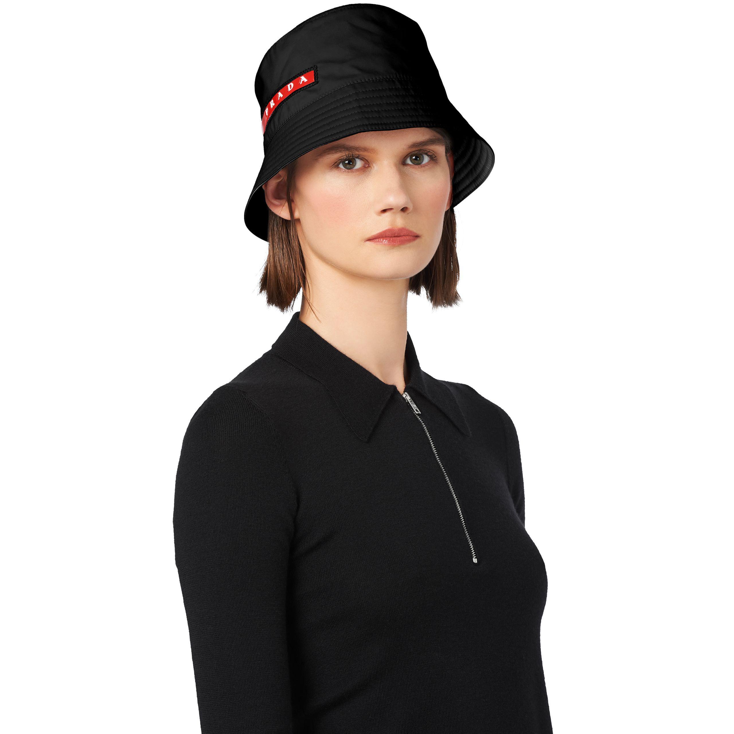 127e4ca7903 Lyst - Prada Technical Fabric Cap in Black