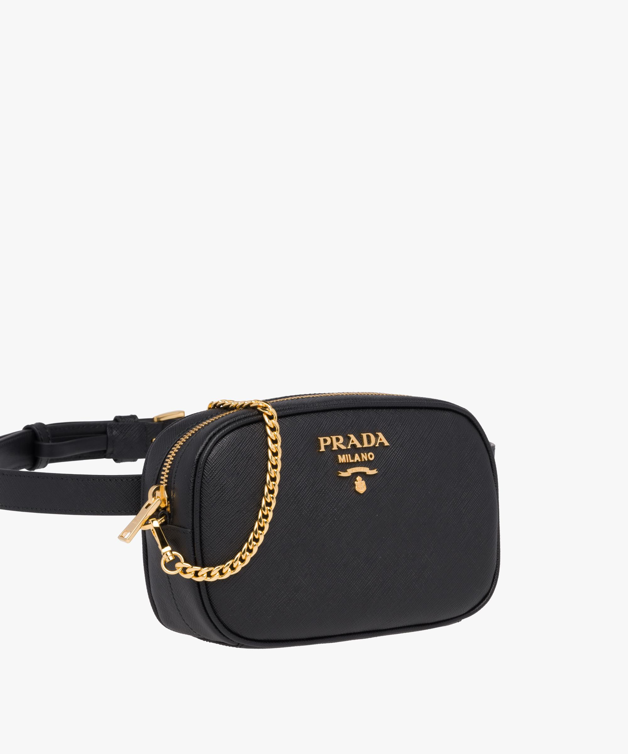 d7f40d5e2923cb where can i buy lyst prada saffiano leather belt bag in black 1d6d7 40034