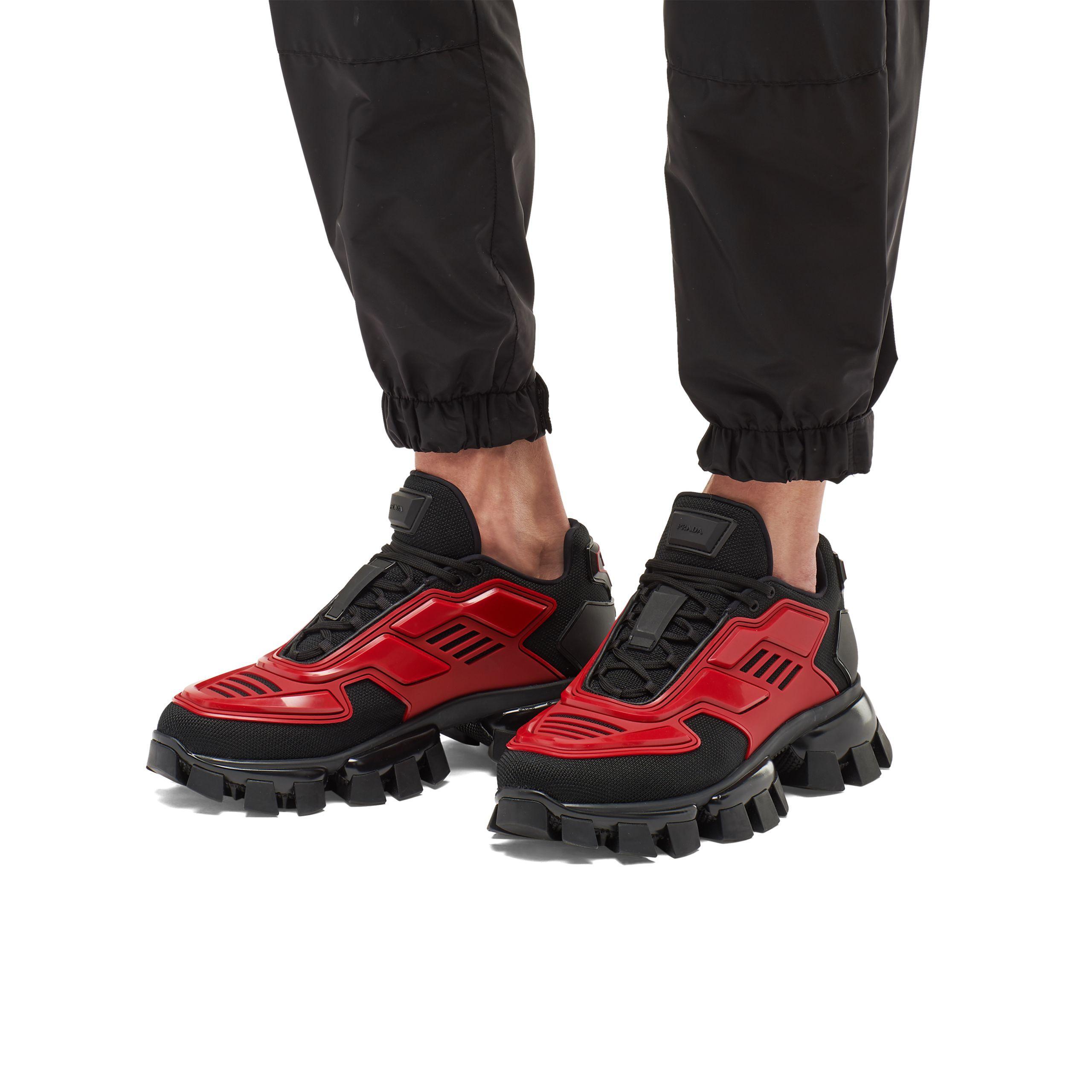 Vente nouveau produit personnalisé Men's Red Cloudbust Thunder Knit Sneakers