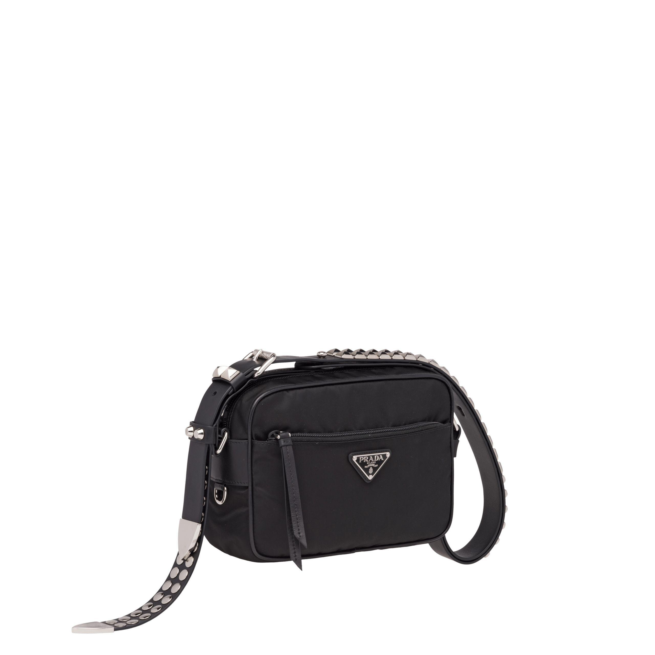 aa659ca9b3fd ... low cost prada black nylon shoulder bag lyst. view fullscreen 3682e  4ed7d