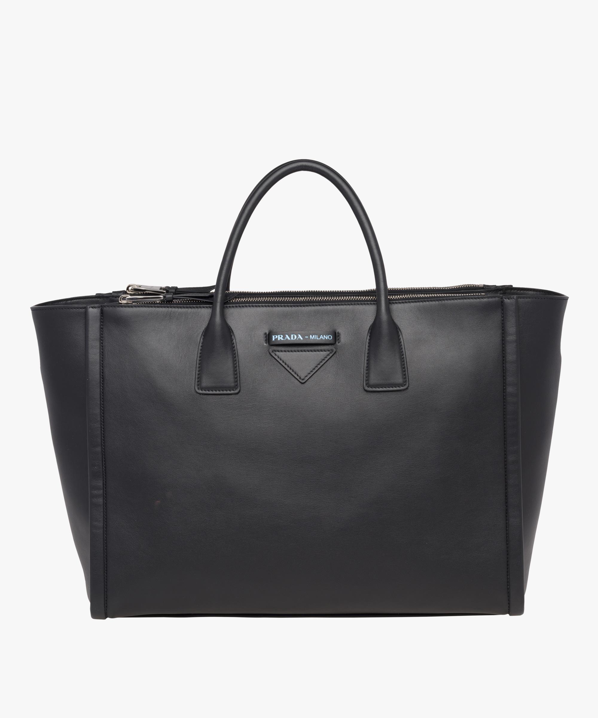 823c87deb76c Lyst - Prada Concept Calf Leather Bag in Black