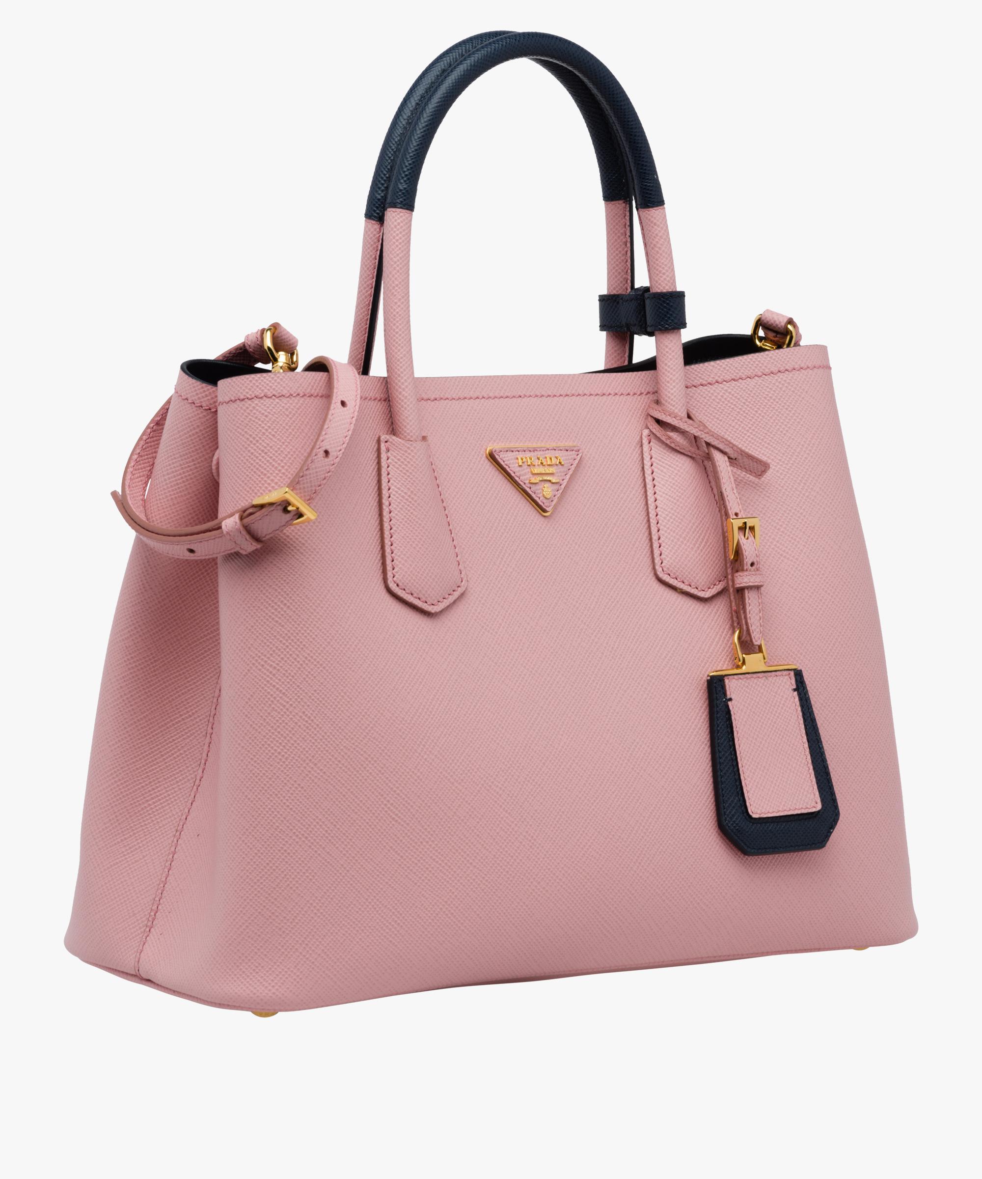 c35f046a0817 ... discount lyst prada double bag in pink 791f5 9b79e