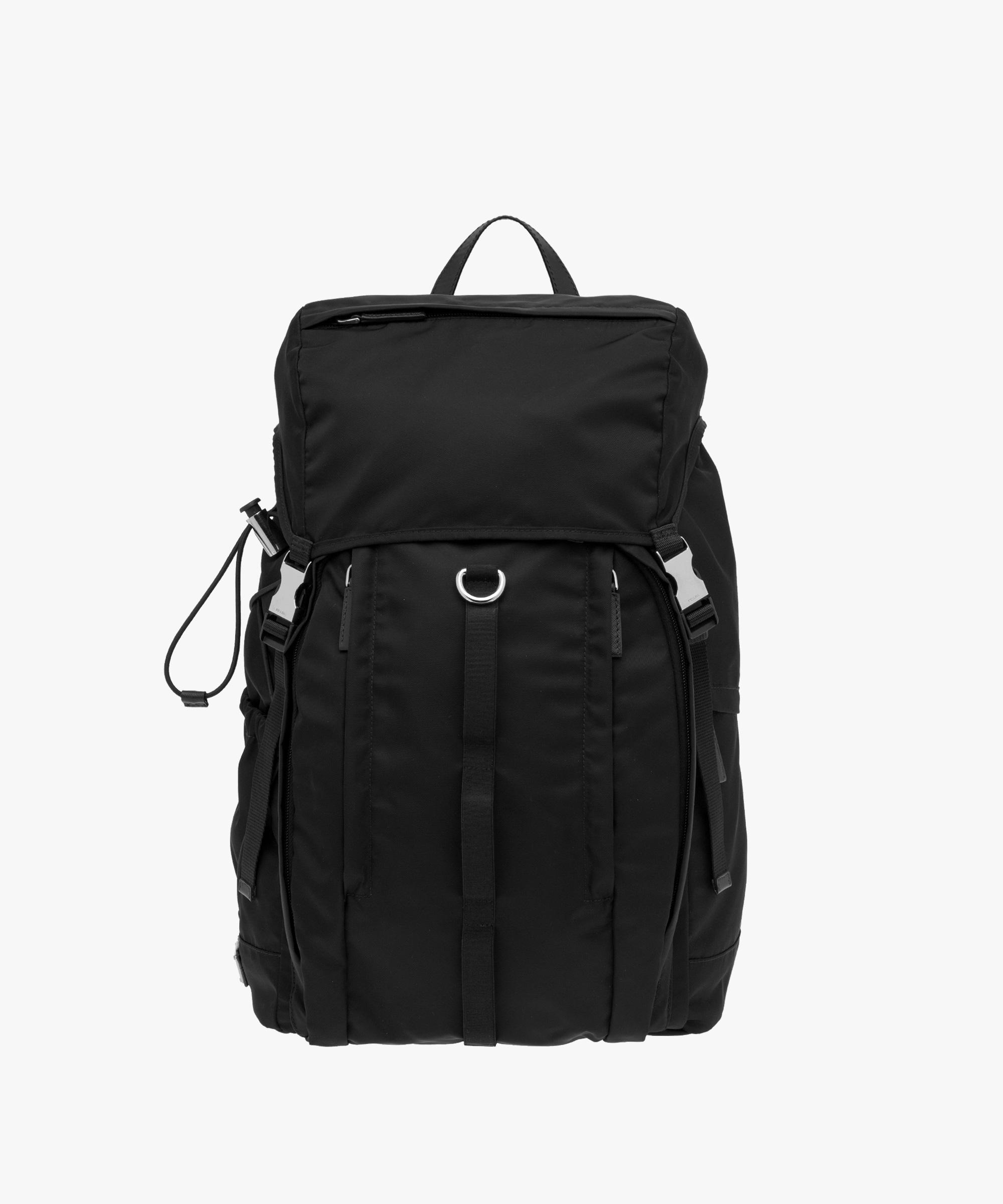 7d79a91d887e ... authentic lyst prada fabric backpack in black for men d952f 9c9ed