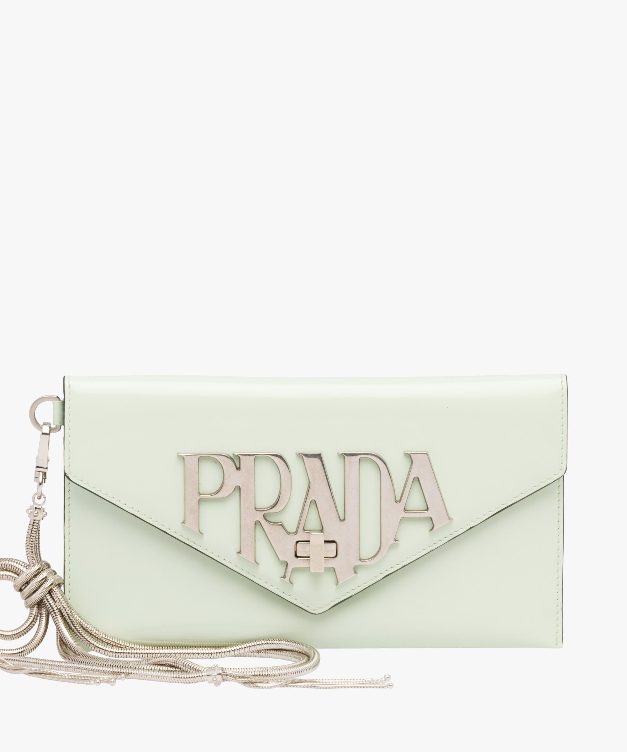 cd5255fc91ffe Prada - Multicolor Leather Clutch Bags - Lyst