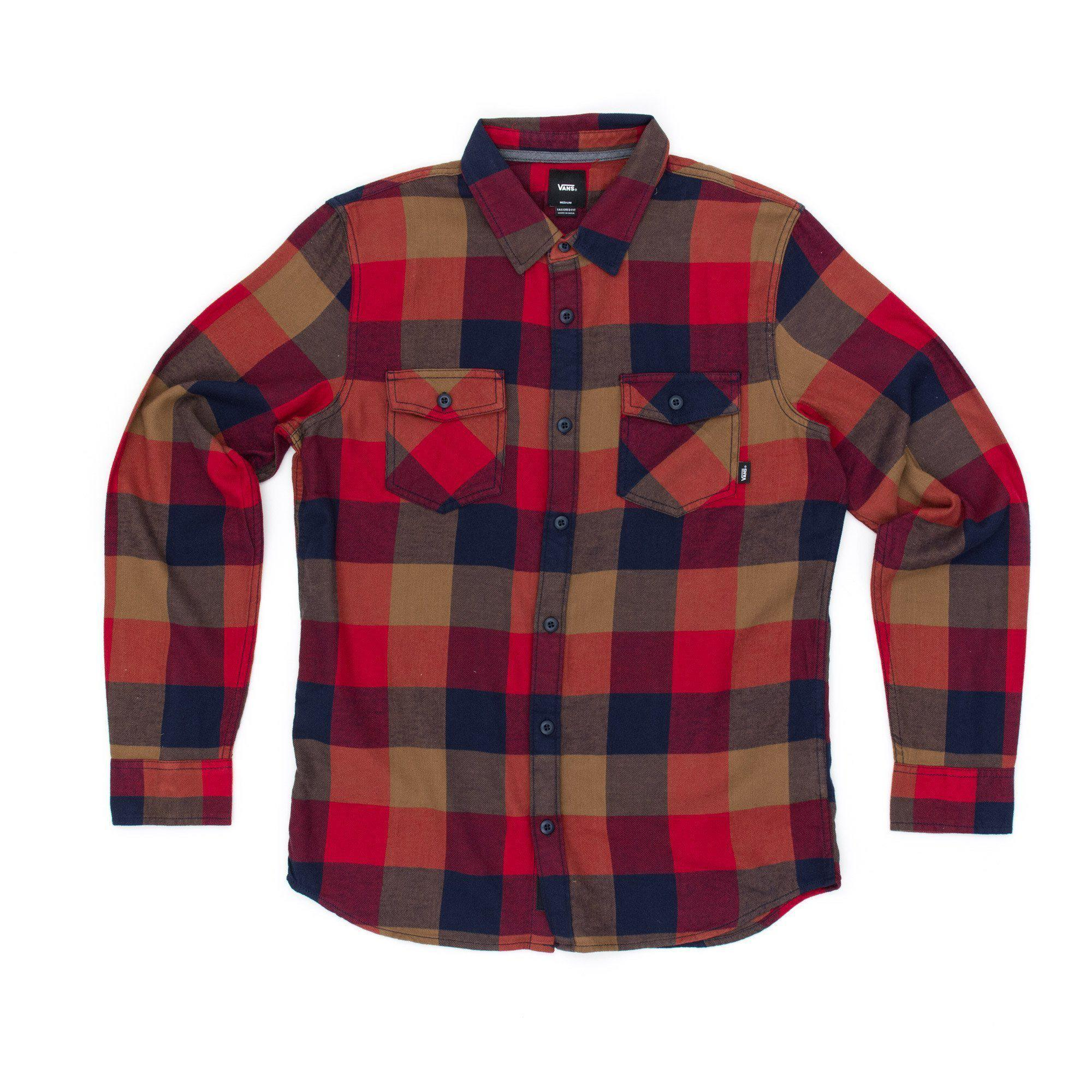 9467ccdecb1 Lyst - Vans Box Flannel Shirt in Red for Men
