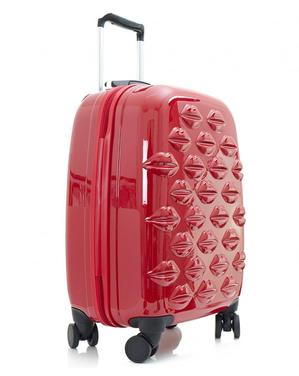 Lulu Guinness Small Lips Hardside Spinner Cabin Case In Red Lyst