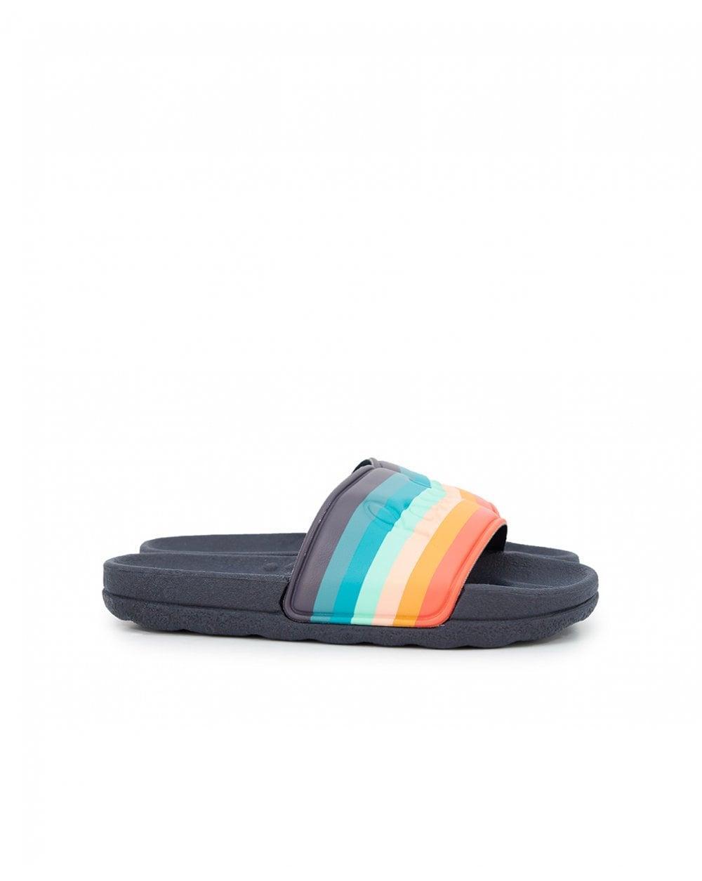 2eac46321 Paul Smith Takak Multi Stripe Logo Sliders in Blue for Men - Lyst