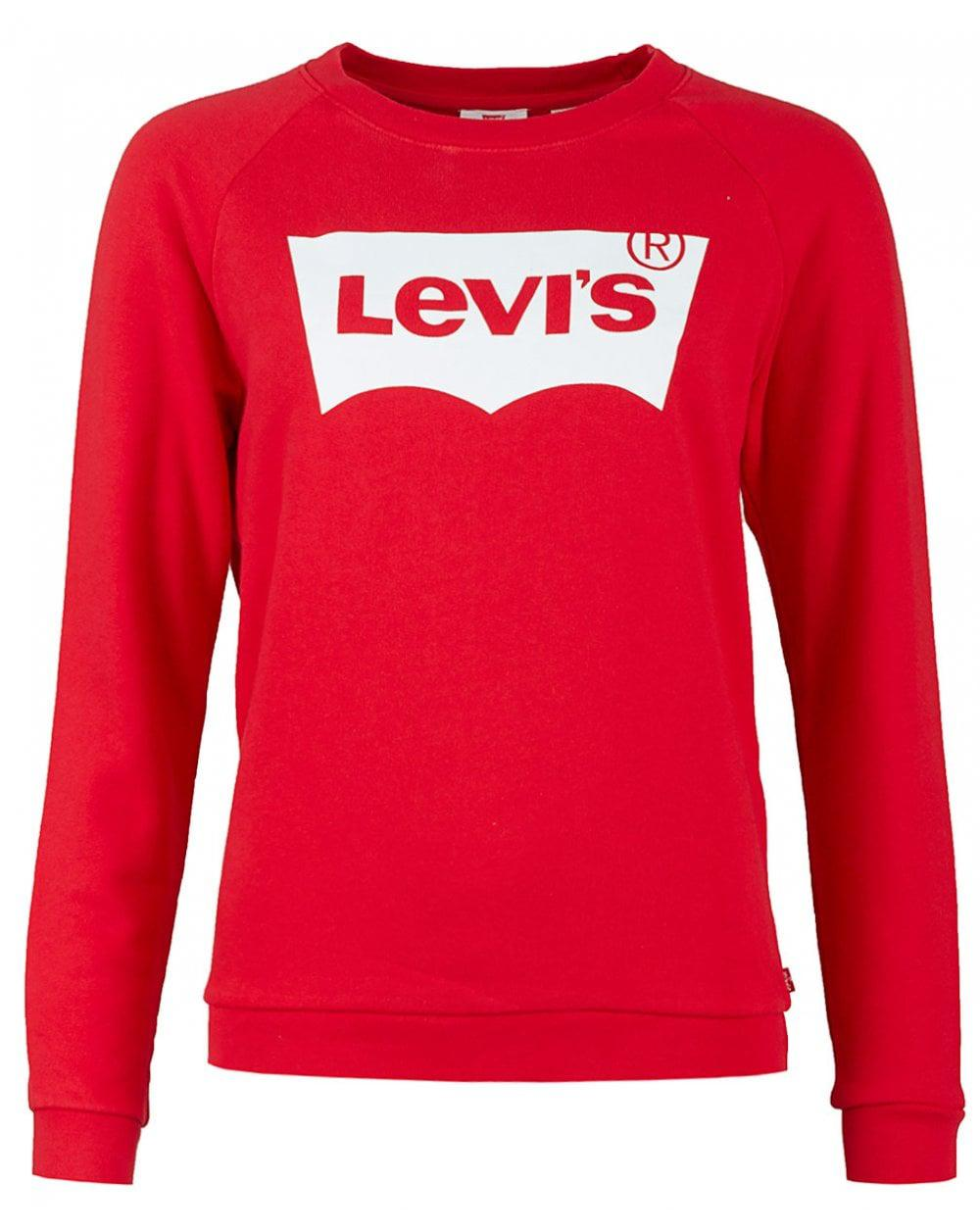Neck Red In Lyst Relaxed Sweat Crew Levi's Graphic w0x6qBIa