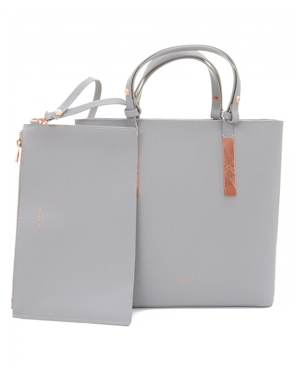 e9e731cac68f Lyst - Ted Baker Adjustable Handle Shopper in Gray