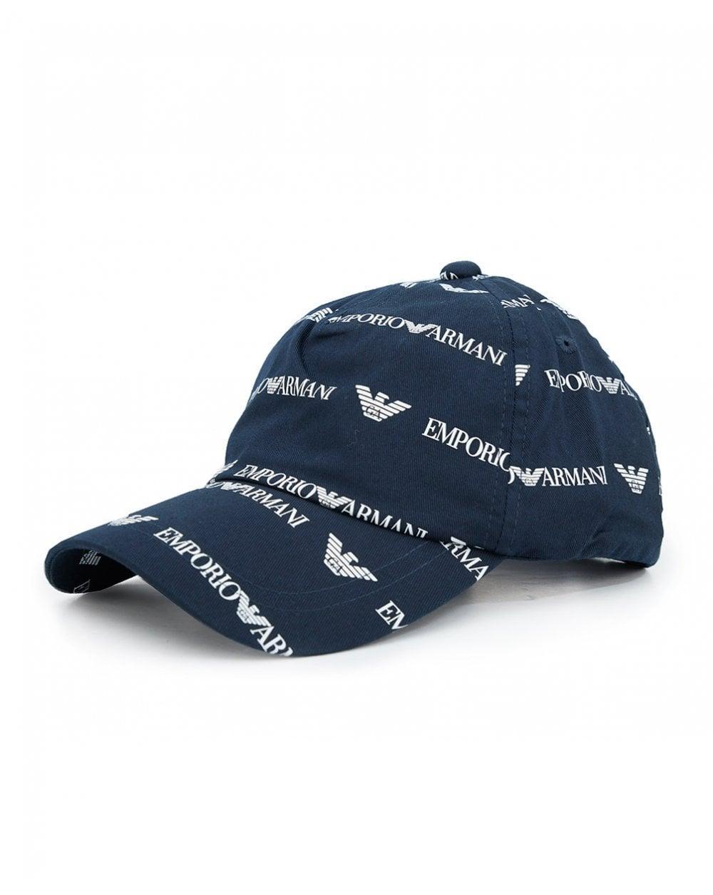 794576581703d Armani Jeans All Over Script Logo Cap in Blue for Men - Lyst