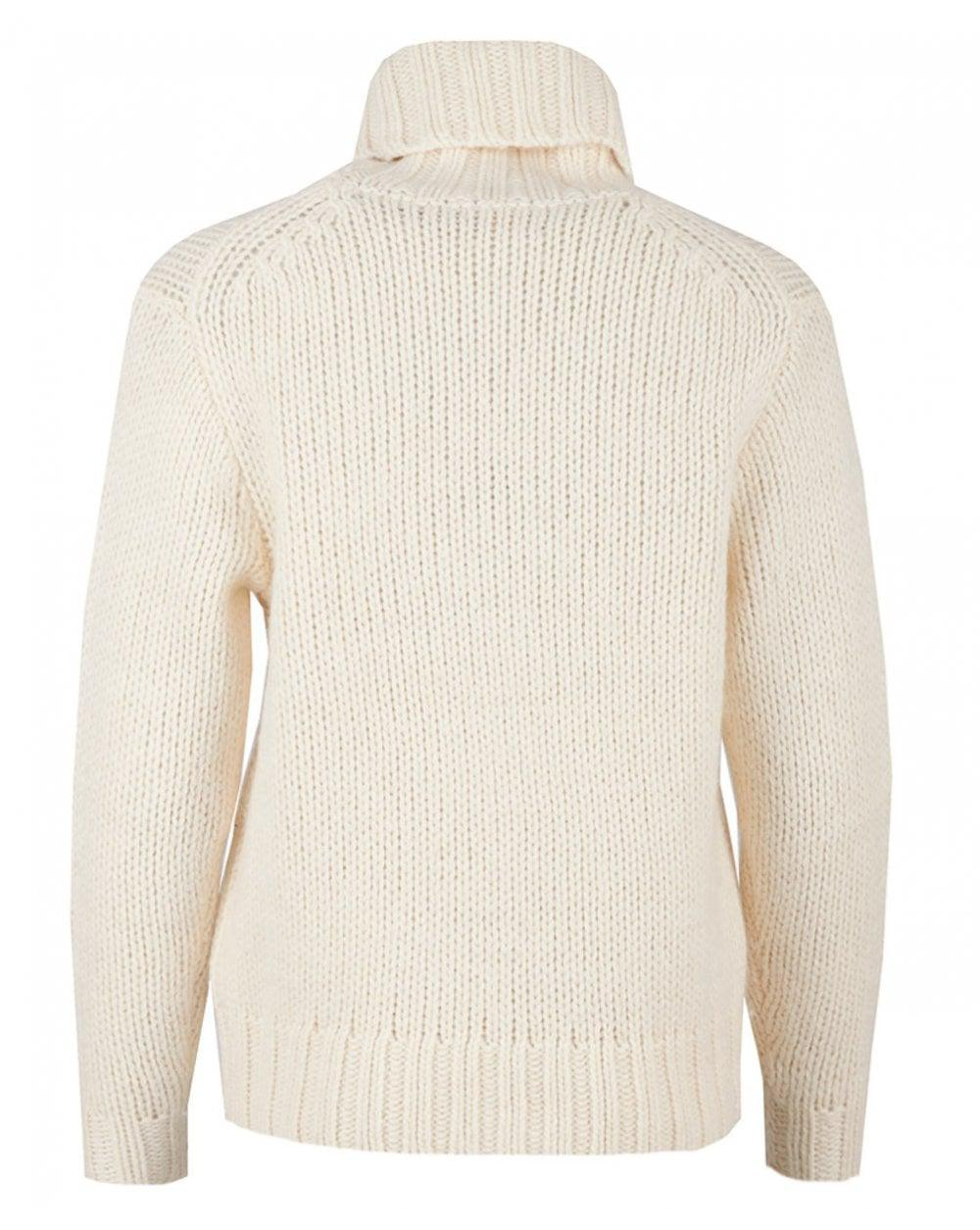 Polo Ralph Lauren Graphic Roll Neck Long Sleeved Knit in Natural - Lyst cfd4de59a2e3
