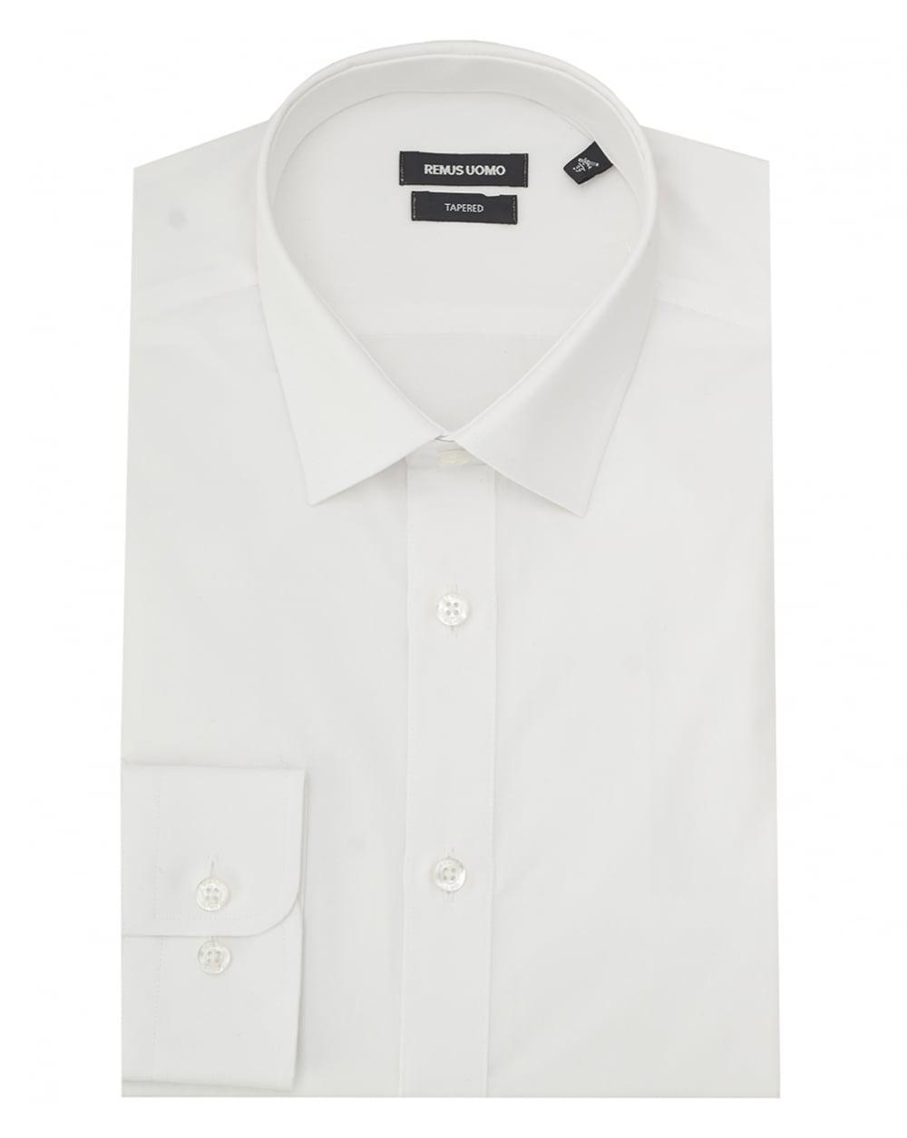 Lyst Remus Uomo Plain Cutaway Collar Shirt In White For Men