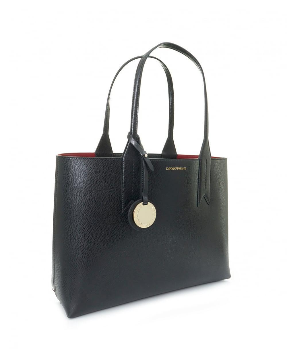 425ed631696c Lyst - Emporio Armani Frida Large Eco Leather Shopper in Black