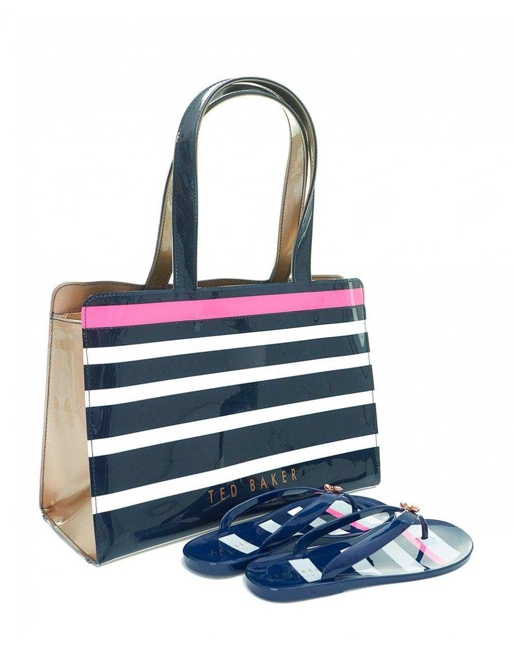 ae157d703fdd Ted Baker Striped Icon Flip Flop Bag Set in Blue - Lyst