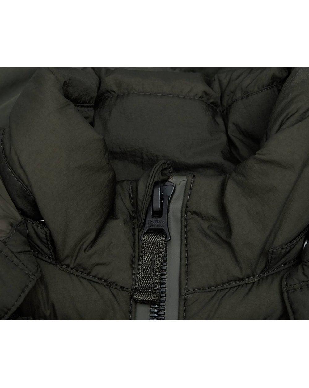 680e26a20 BOSS by Hugo Boss Obrook Hooded Padded Jacket in Green for Men - Lyst