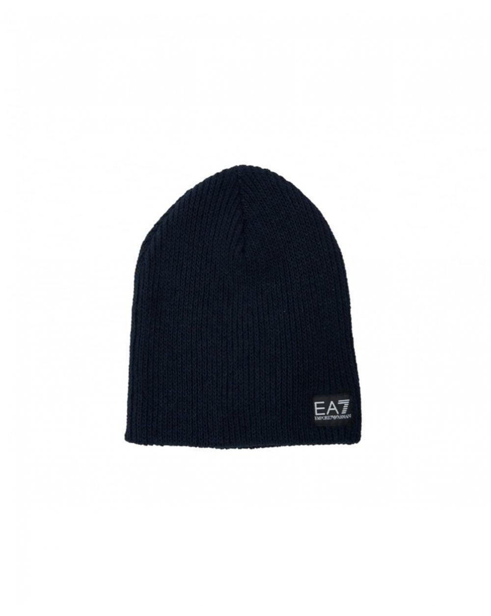 3e87e7aa749 Ea7 Train Lux Beanie Hat in Blue for Men - Lyst