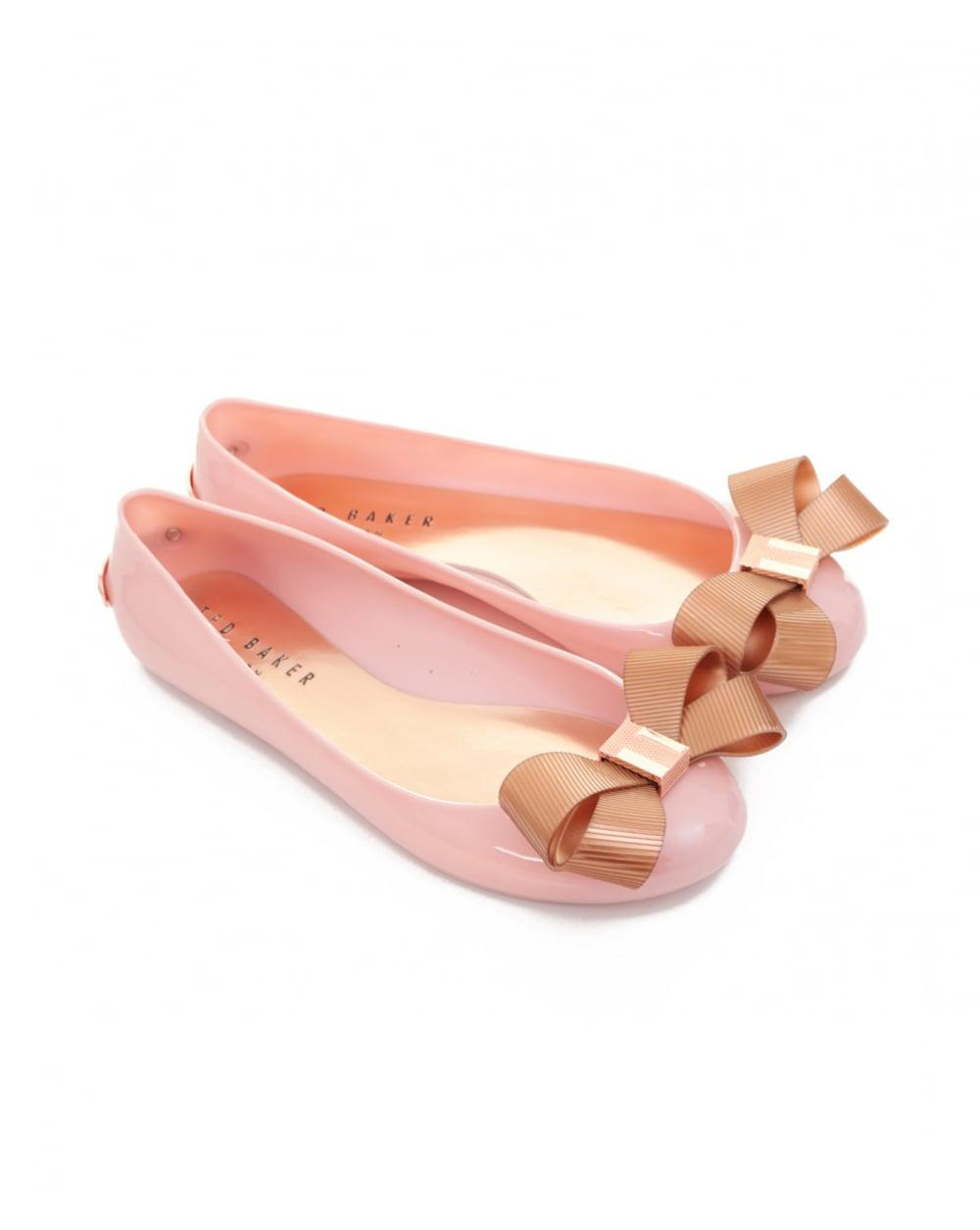 66b3f837d Ted Baker - Pink Bow Front Jelly Pumps - Lyst. View fullscreen