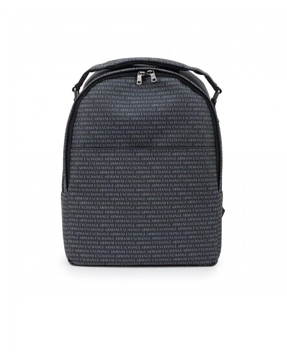 517e5a40a596 Lyst - Armani Exchange All Over Logo Backpack in Black for Men