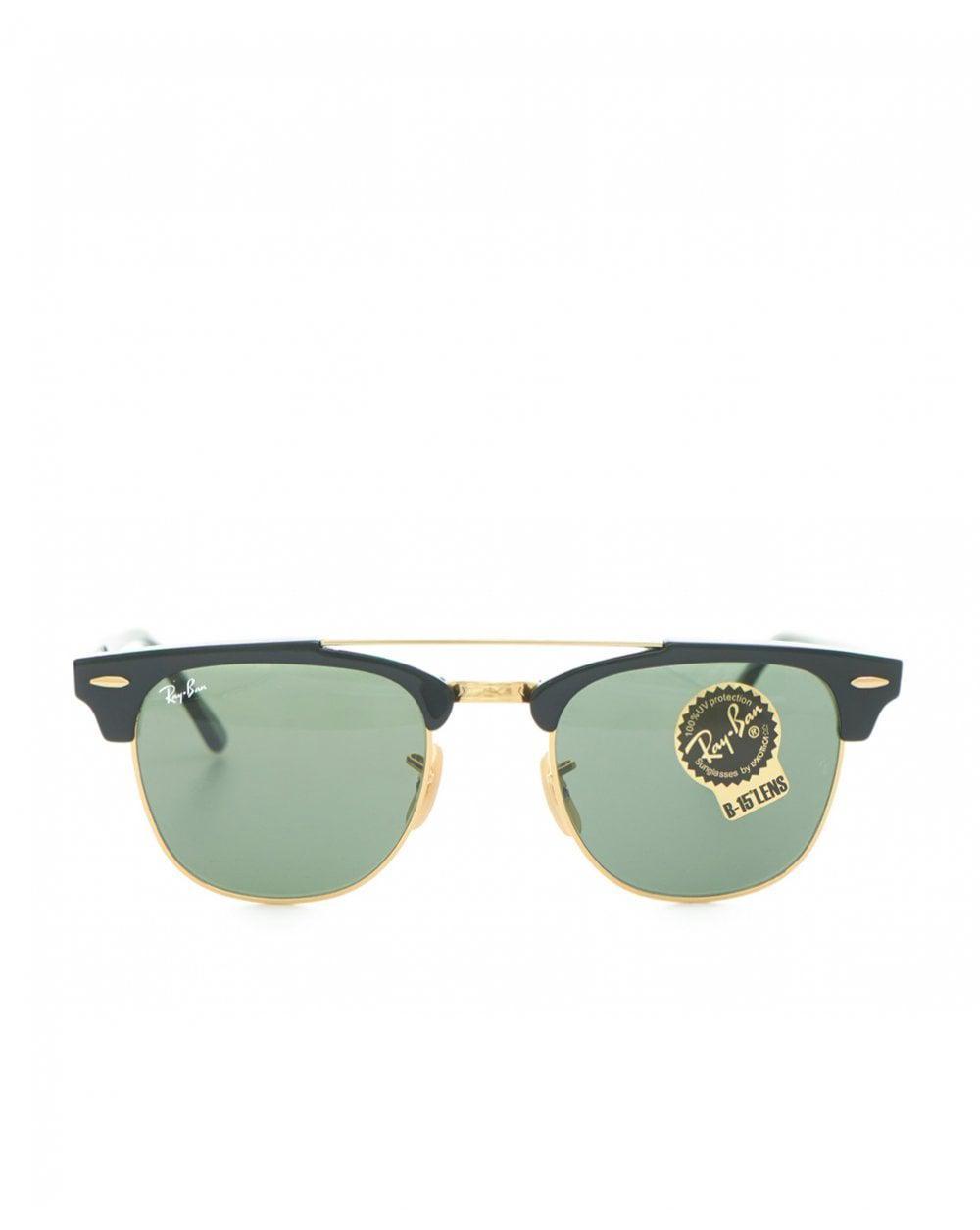 1bdd3c1ba2 Lyst - Ray-Ban Clubmaster Double Bridge Sunglasses in Black for Men