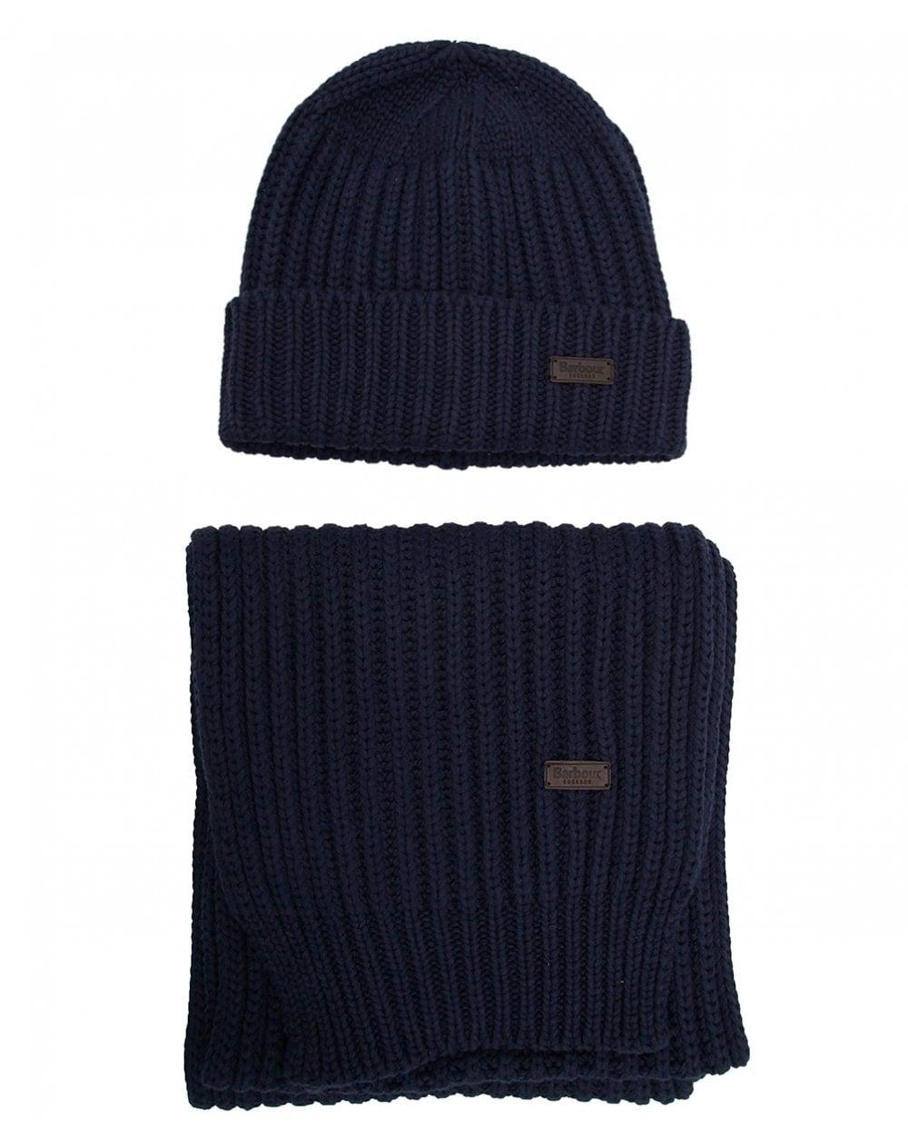 Barbour Chunky Hat And Scarf Gift Set in Blue for Men - Lyst c18473f6d7ea
