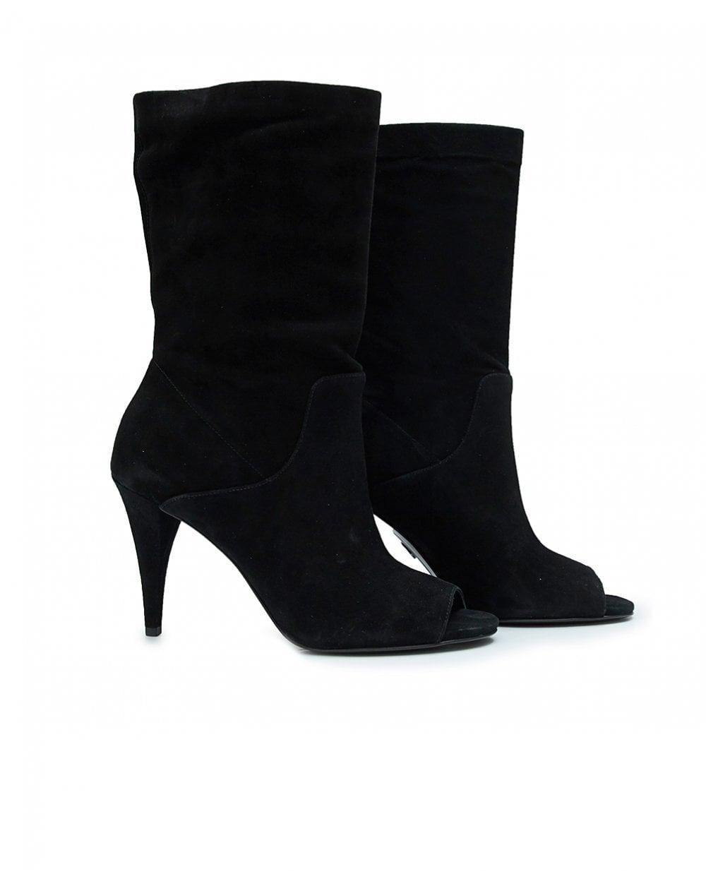 042f2d0f545d8 Lyst - Michael Kors Elaine Open Toe Booties in Black