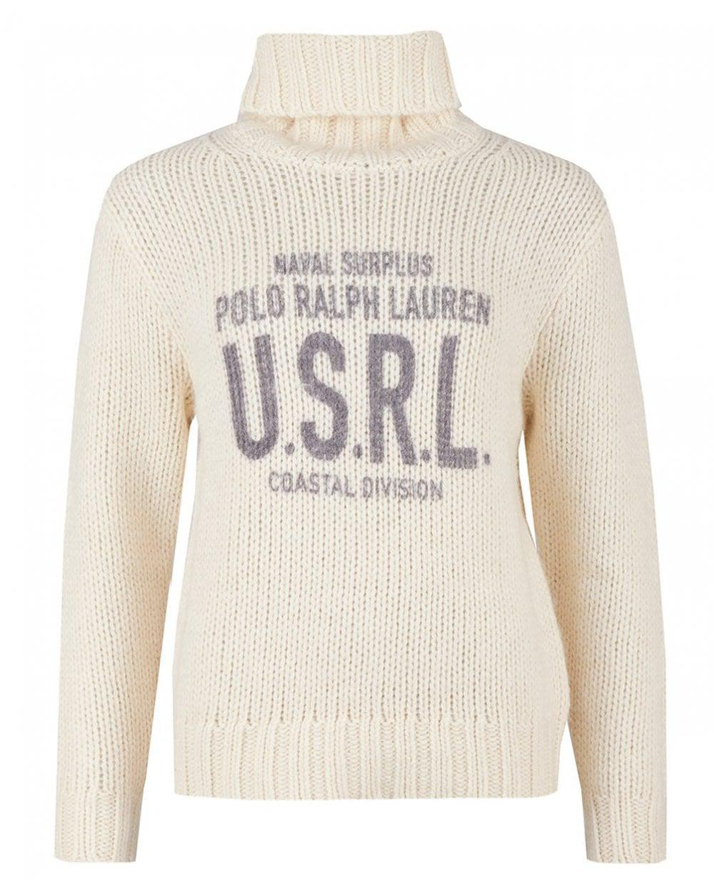 Polo Ralph Lauren - Natural Graphic Roll Neck Long Sleeved Knit - Lyst.  View fullscreen a7692e2ee199