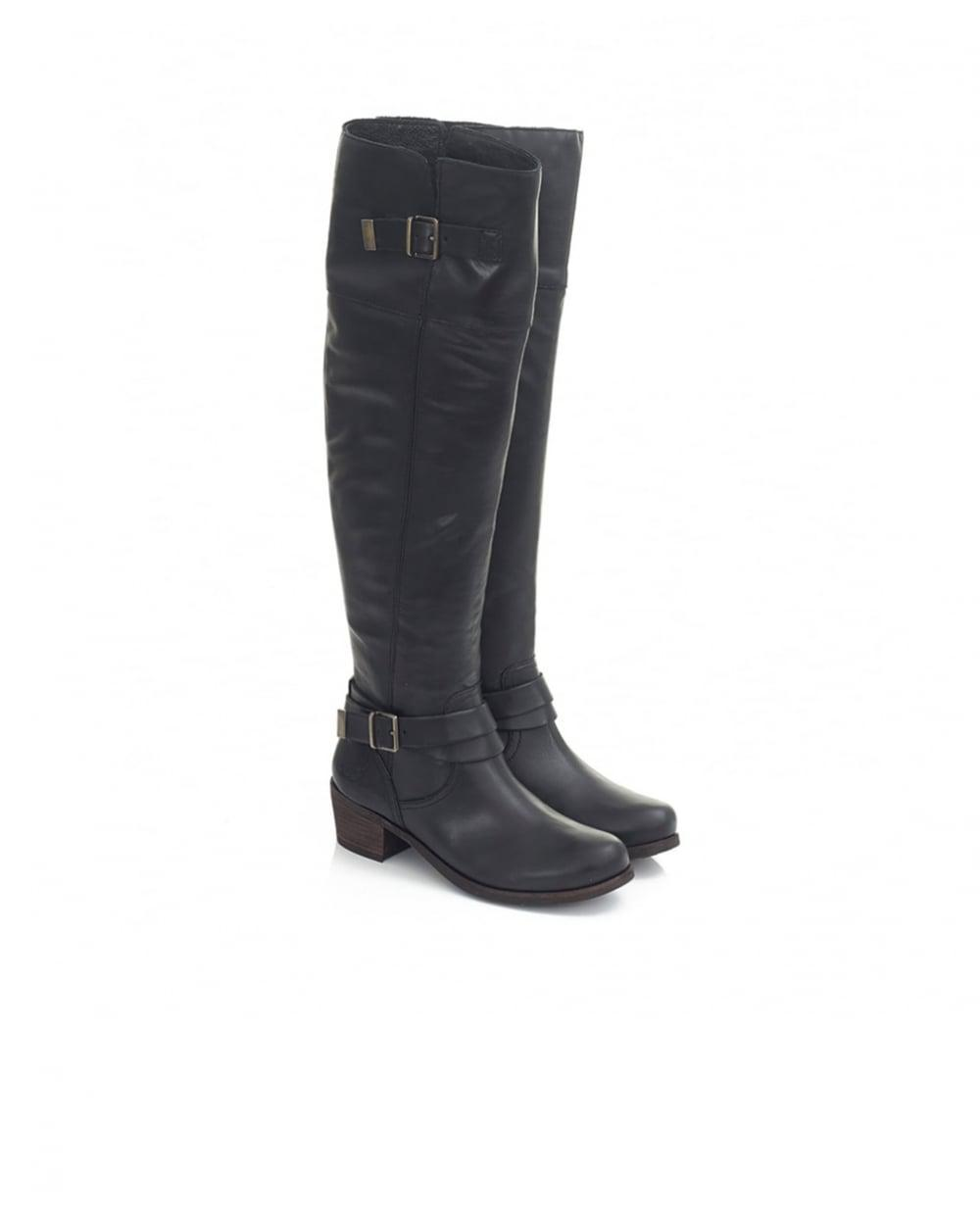 0cc37fd07e7 Ugg Black Bess Low Heel Leather Over Knee Boots