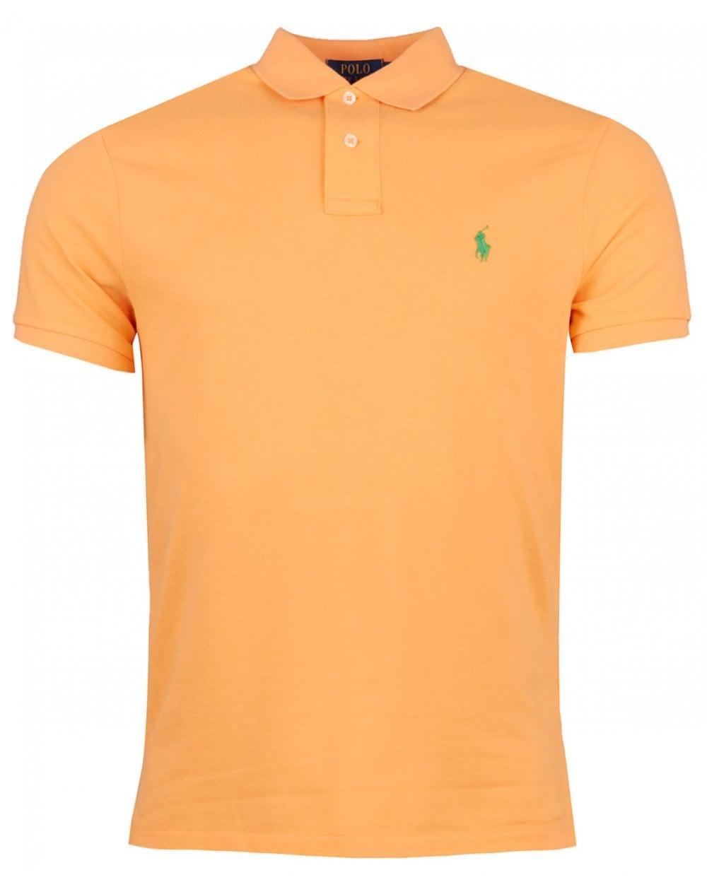 e7b0b30d Polo Ralph Lauren Custom Slim Fit Mesh Polo Shirt in Orange for Men ...