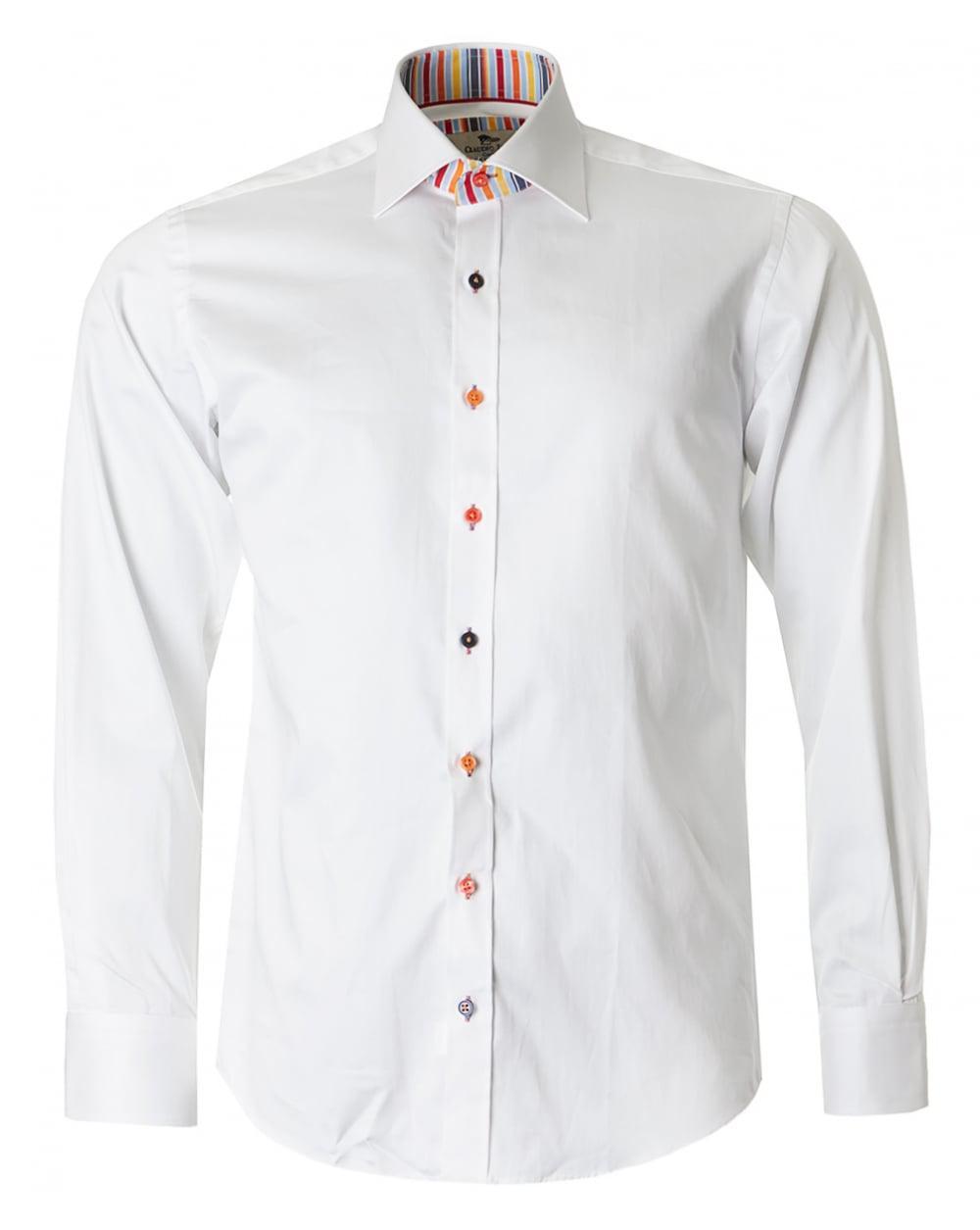 9c99fc7d4efd8 Claudio Lugli Stripe Trim Shirt in White for Men - Lyst