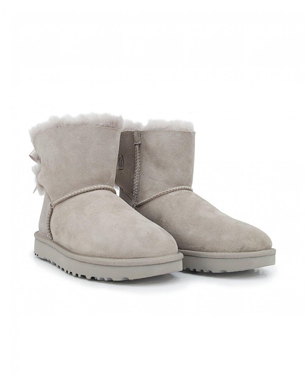 be3606fe75c Ugg - Gray Mini Bailey Bow Ii Classic Boots - Lyst. View fullscreen