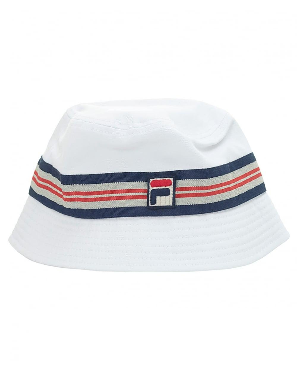 ... outlet store 455c4 704b6 Lyst - Fila Vintage Bucket Hat in White for  Men ... 466fc3c9da64