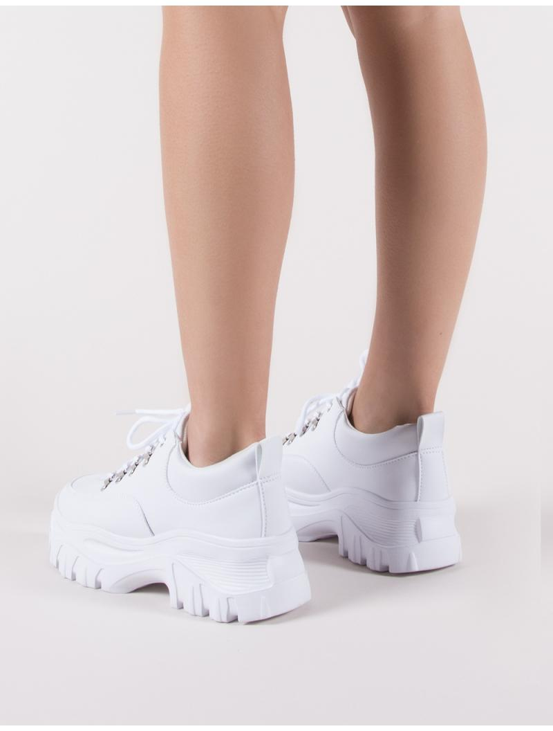 5262dcb2d29 Public Desire Vouch Chunky Trainers In White in White - Lyst