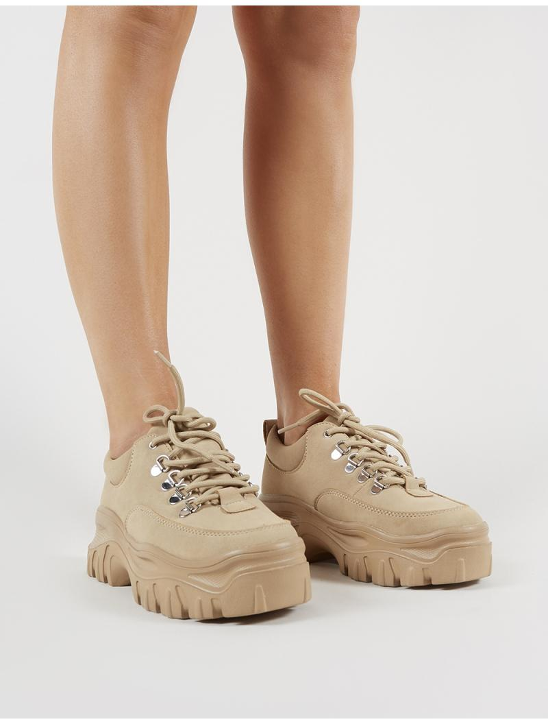 64c83632e9d Lyst - Public Desire Vouch Chunky Trainers In Sand in Natural