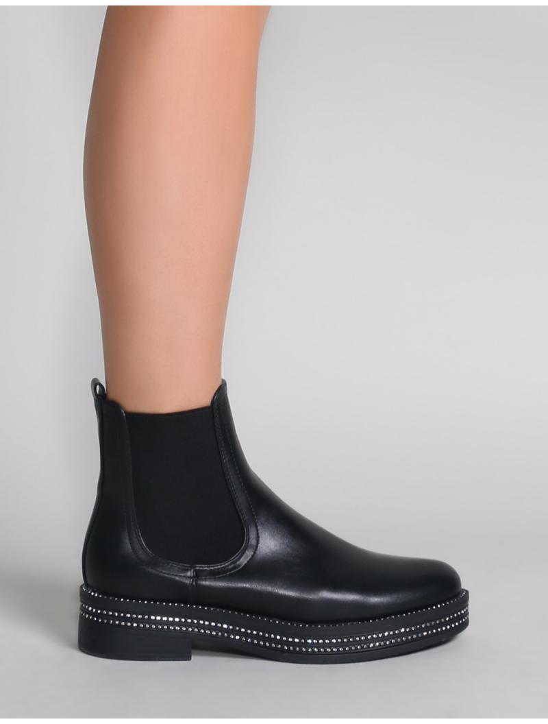 06e47485f Lyst - Public Desire Glare Chelsea Boots In Black in Black