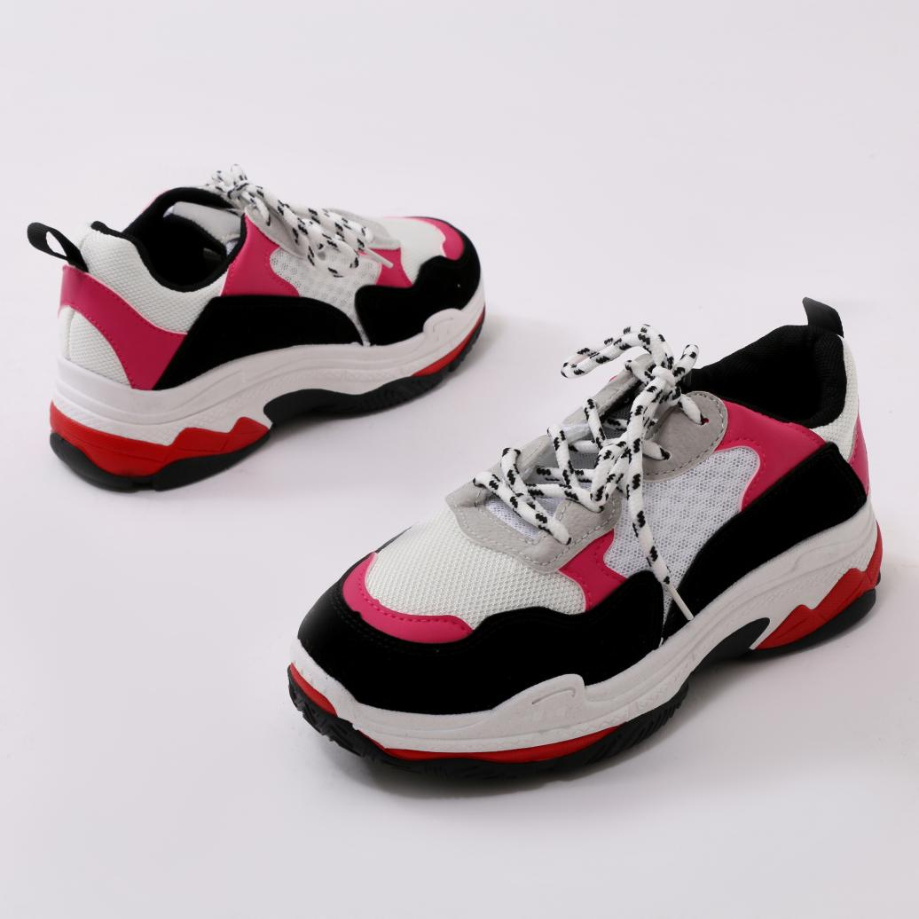 cc359095675 Public Desire Switch Chunky Trainers Pink in Pink - Lyst