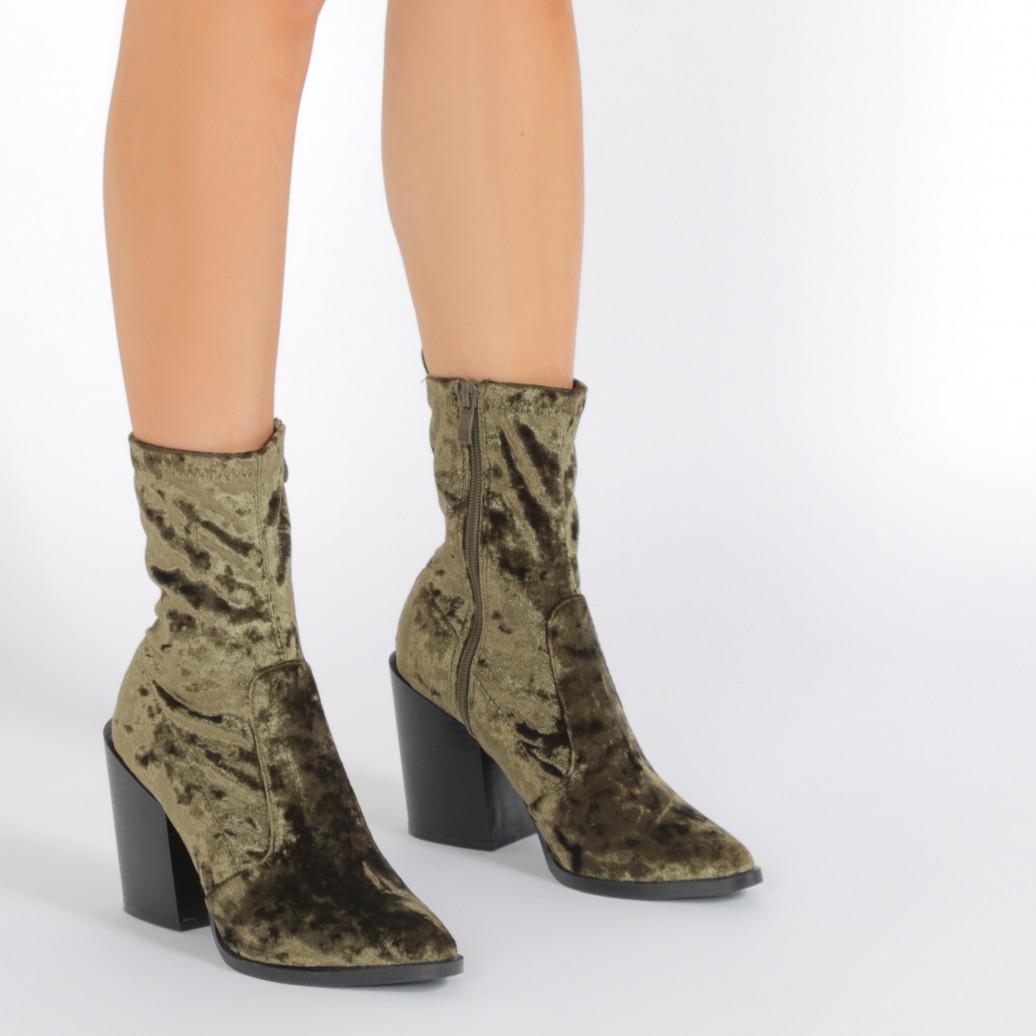 2e98d63a1 Lyst - Public Desire Gabriella Western Style Sock Boots In Khaki ...