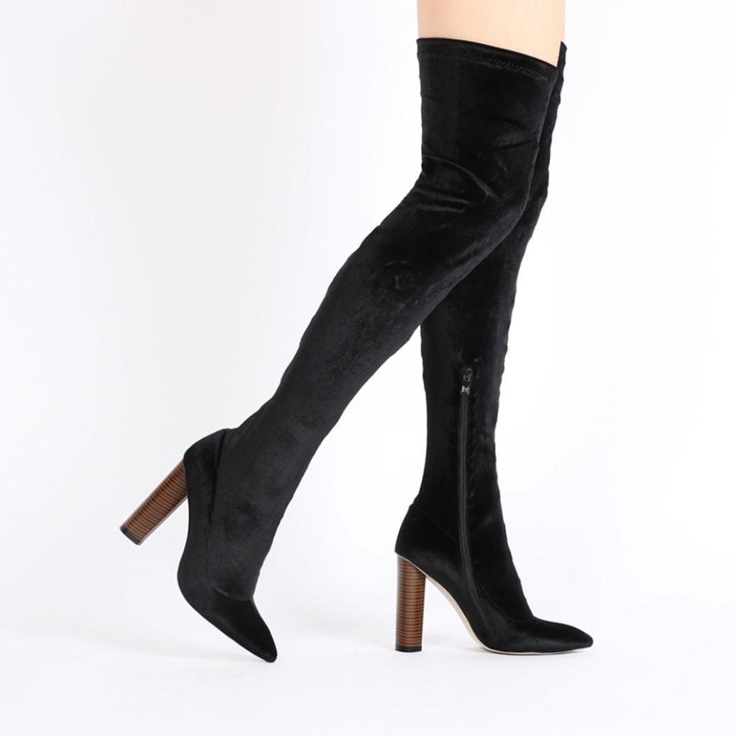 Public Desire Dominique Long Boots in Khaki Camo EWgHEI1wc