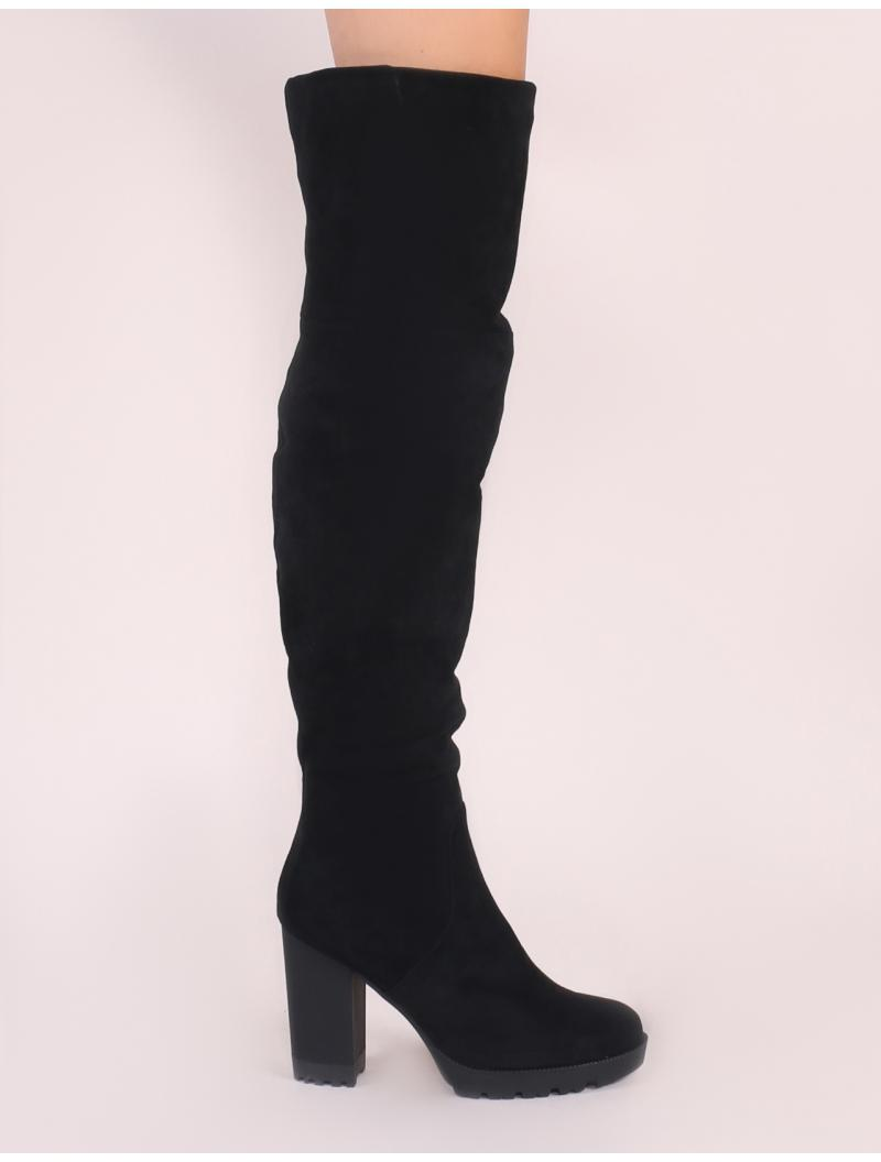 cf3844a4756 Public Desire Cerys Over The Knee Boots In Black in Black - Lyst