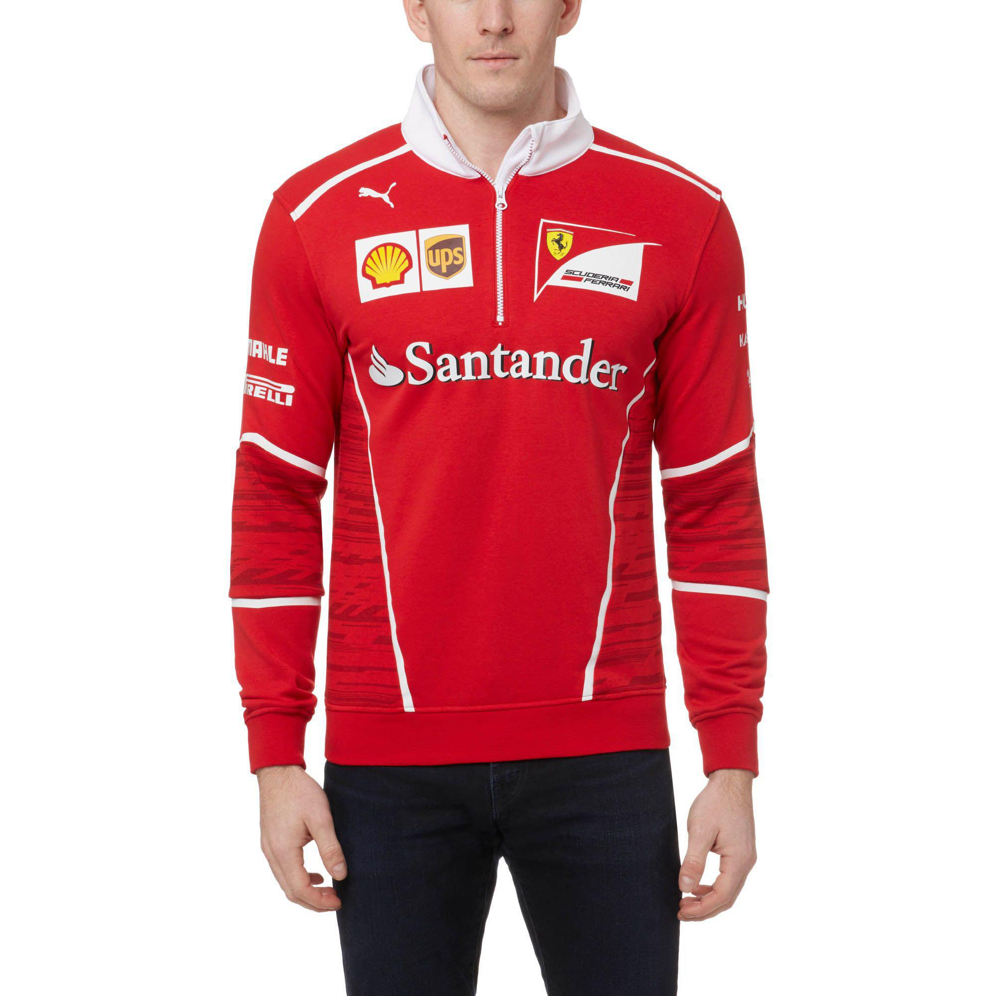 5b3877c99097 Lyst - PUMA Ferrari Team Half-zip Sweatshirt in Red for Men