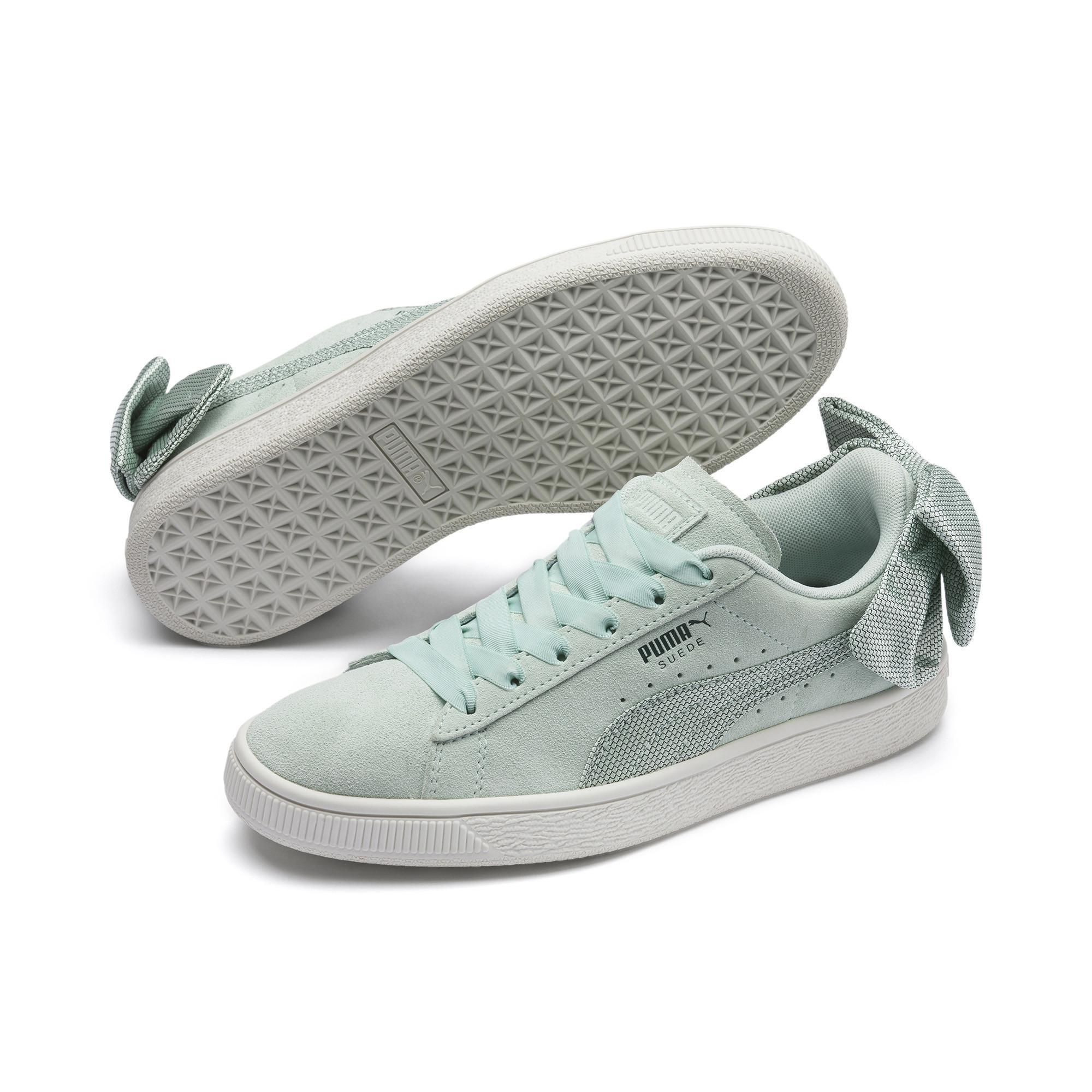 68dd2597750 Lyst - PUMA Suede Bow Hexamesh Women s Sneakers in Gray