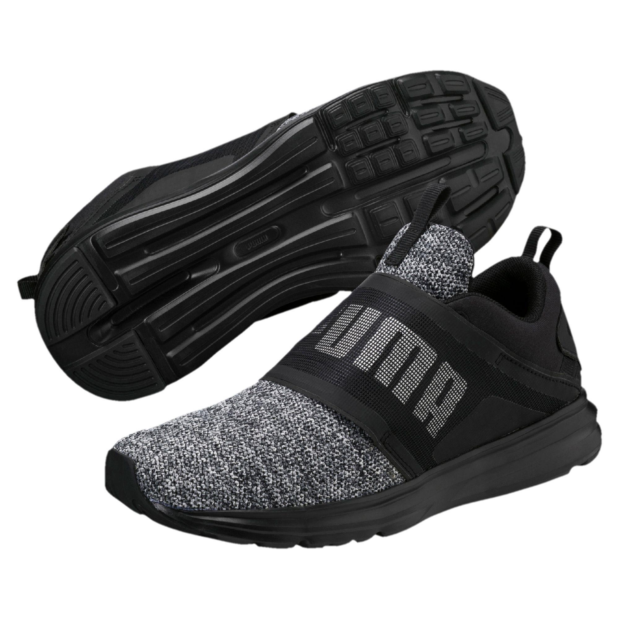 46c7cd82af3b Lyst - Puma Enzo Strap Knit Women s Running Shoes in Black for Men