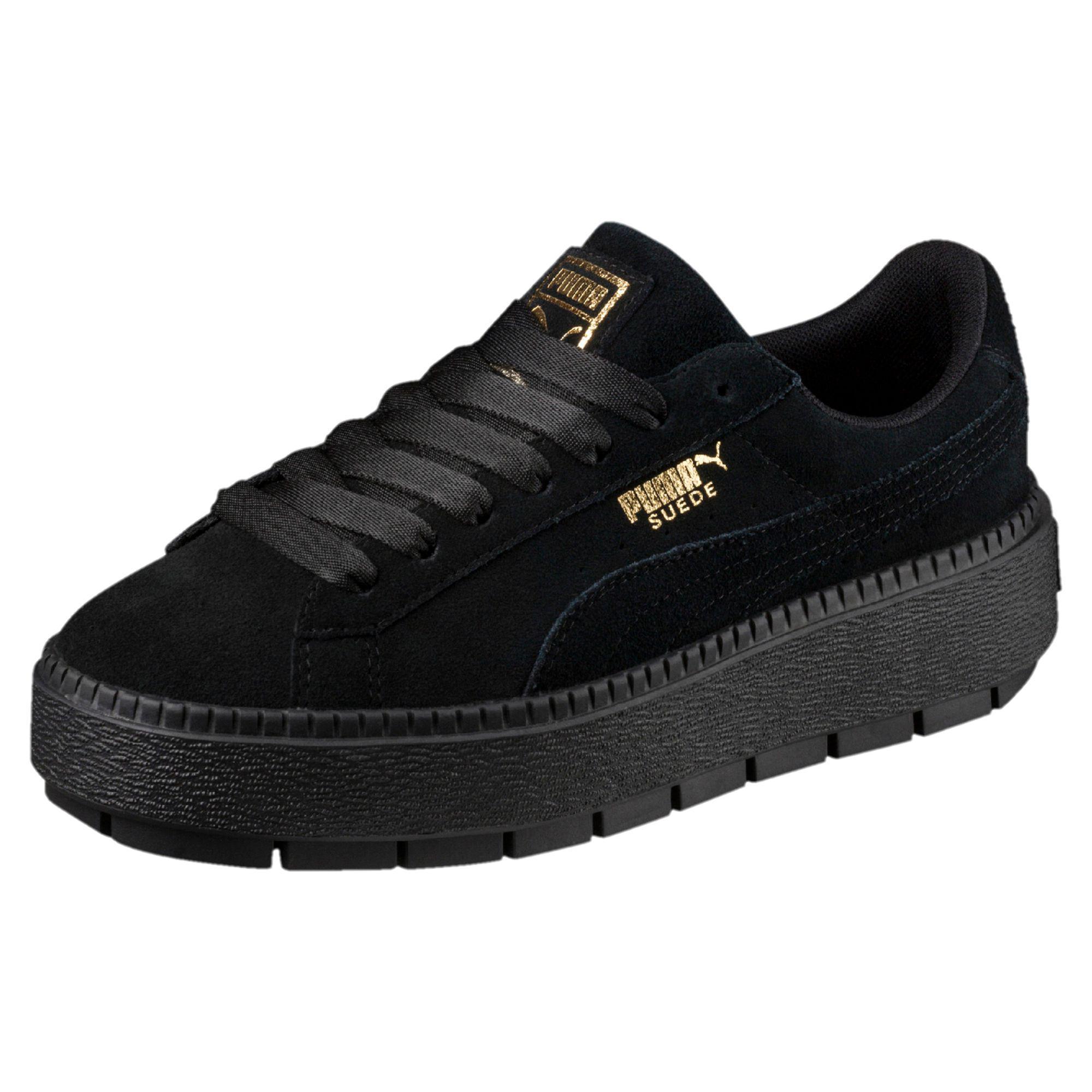 b145b75b2cd1 Lyst - Puma Suede Platform Rugged Shoe Black in Black